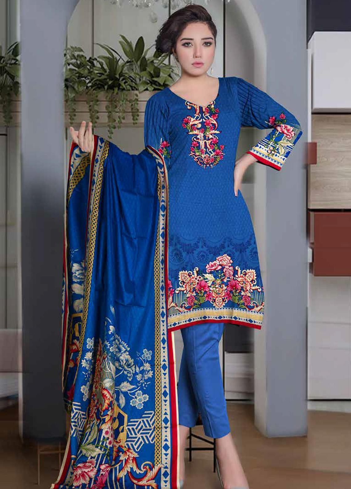 Ittehad Textiles Printed Lawn Unstitched 3 Piece Suit ITD20CL 60B - Summer Collection