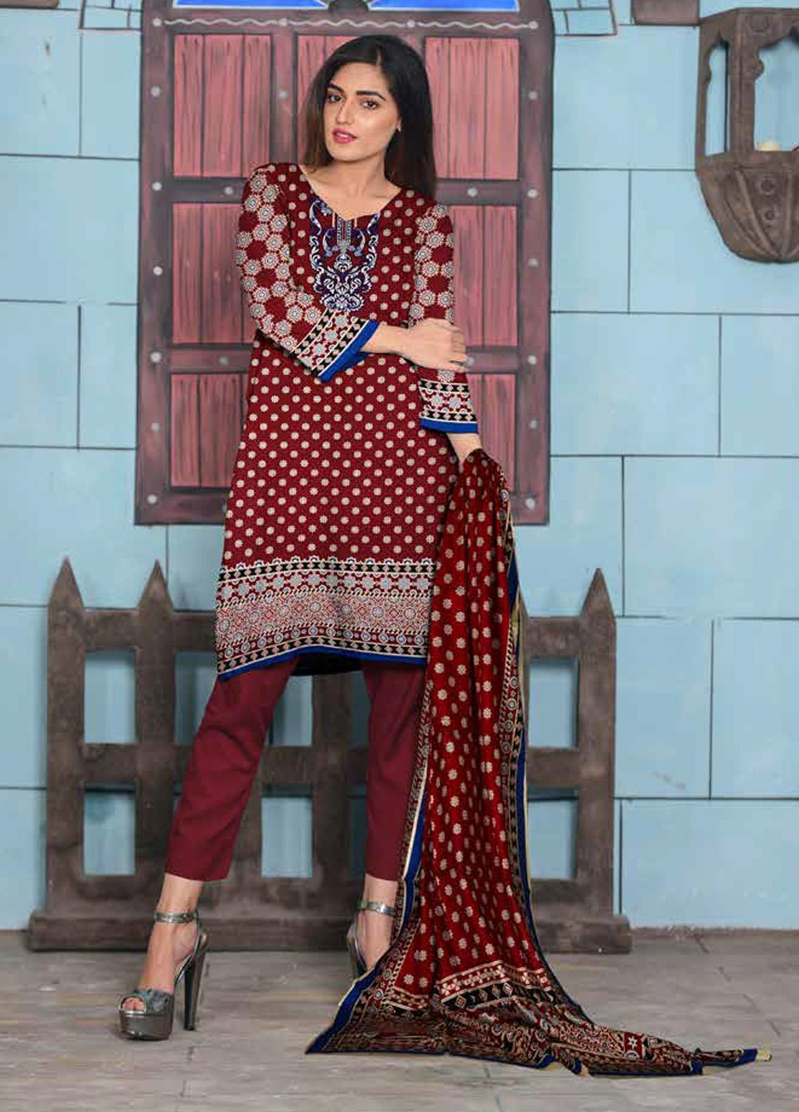 Ittehad Textiles Printed Lawn Unstitched 3 Piece Suit ITD20CL 62A - Summer Collection