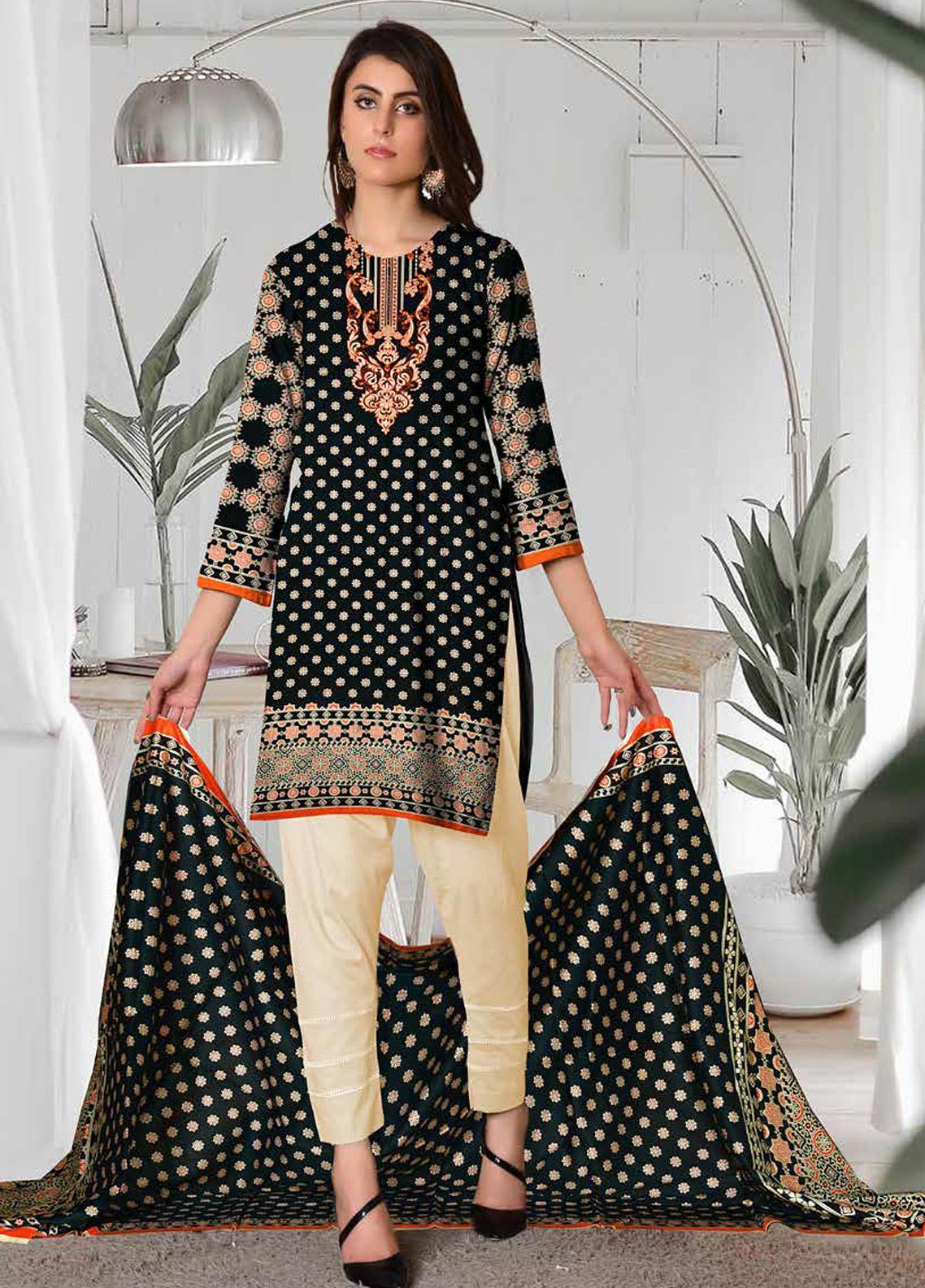 Ittehad Textiles Printed Lawn Unstitched 3 Piece Suit ITD20CL 62B - Summer Collection