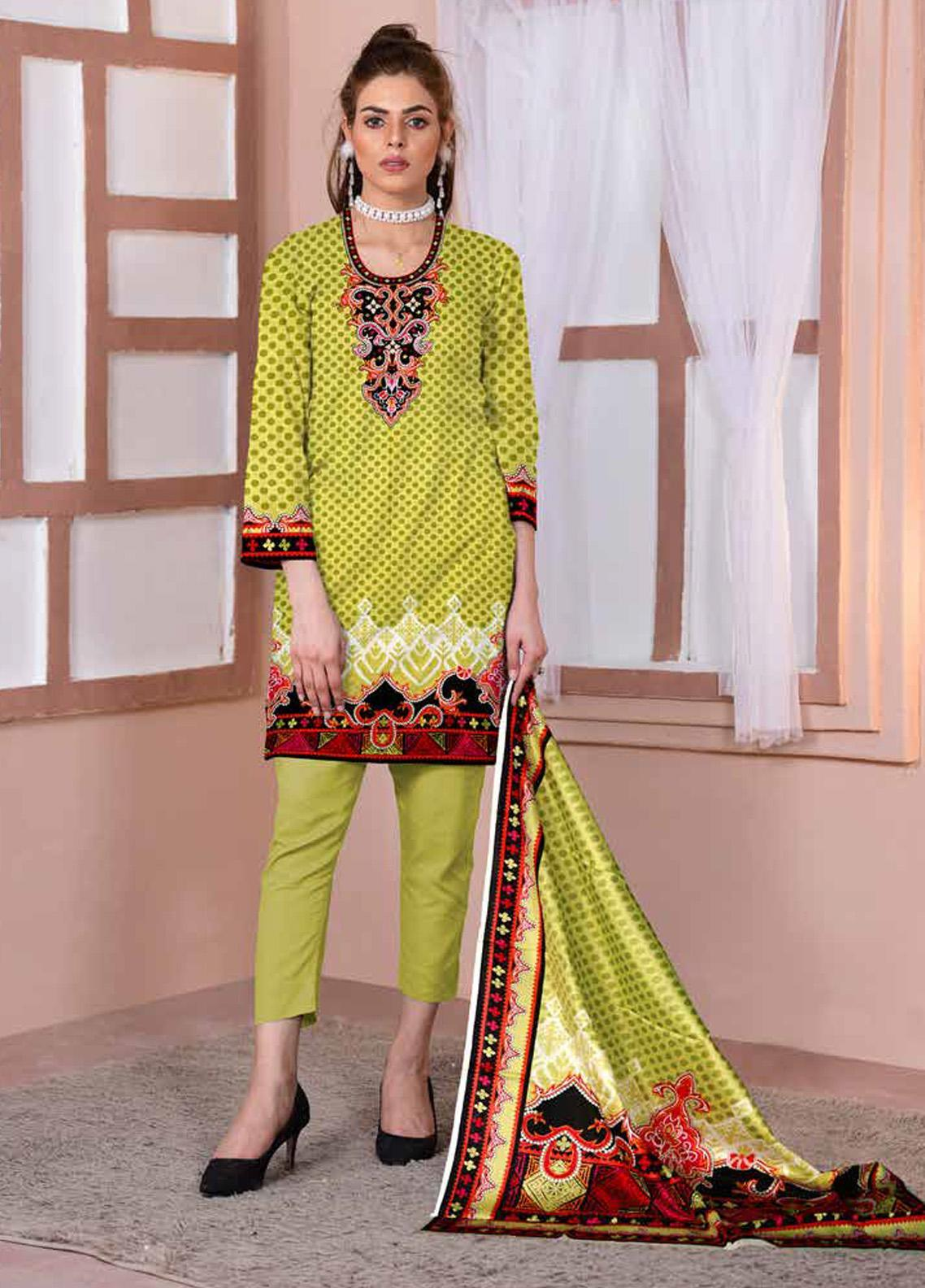 Ittehad Textiles Printed Lawn Unstitched 3 Piece Suit ITD20CL 63B - Summer Collection