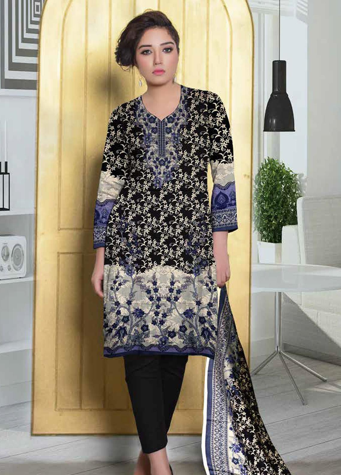 Ittehad Textiles Printed Lawn Unstitched 3 Piece Suit ITD20CL 64B - Summer Collection