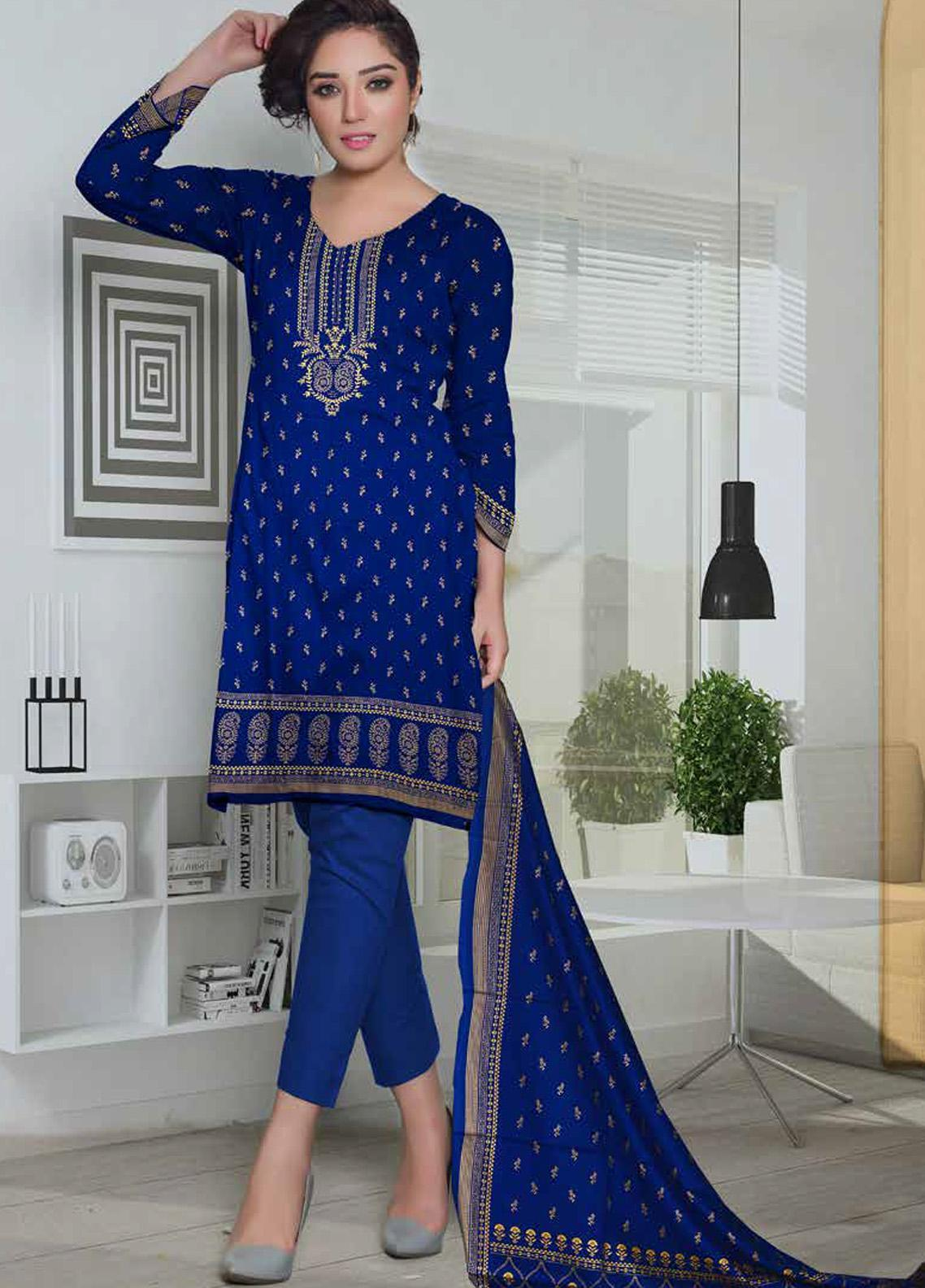 Ittehad Textiles Printed Lawn Unstitched 3 Piece Suit ITD20CL 66B - Summer Collection