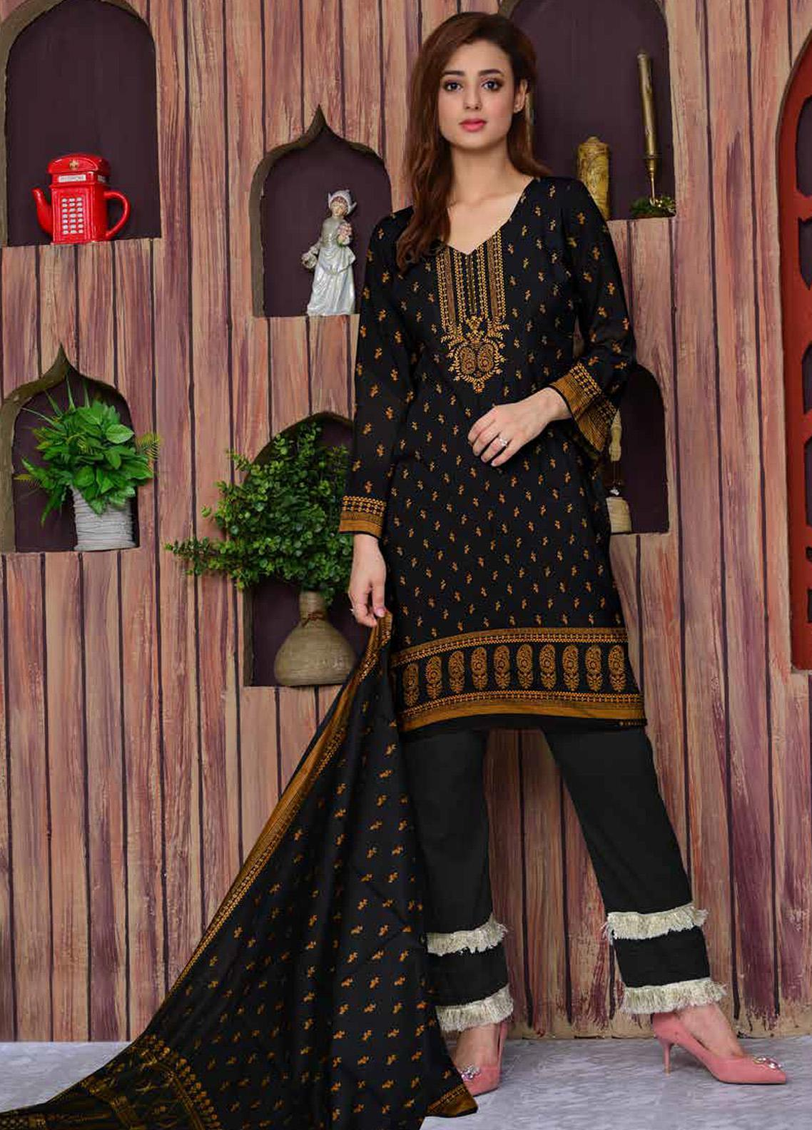 Ittehad Textiles Printed Lawn Unstitched 3 Piece Suit ITD20CL 66C - Summer Collection