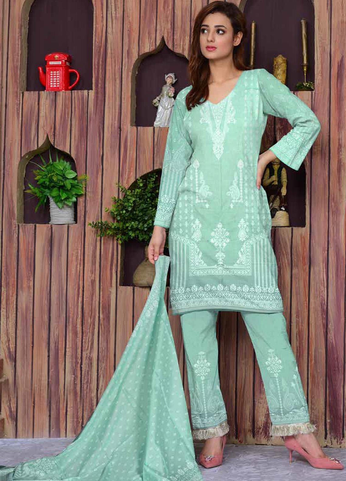 Ittehad Textiles Printed Lawn Unstitched 3 Piece Suit ITD20CL 67B - Summer Collection
