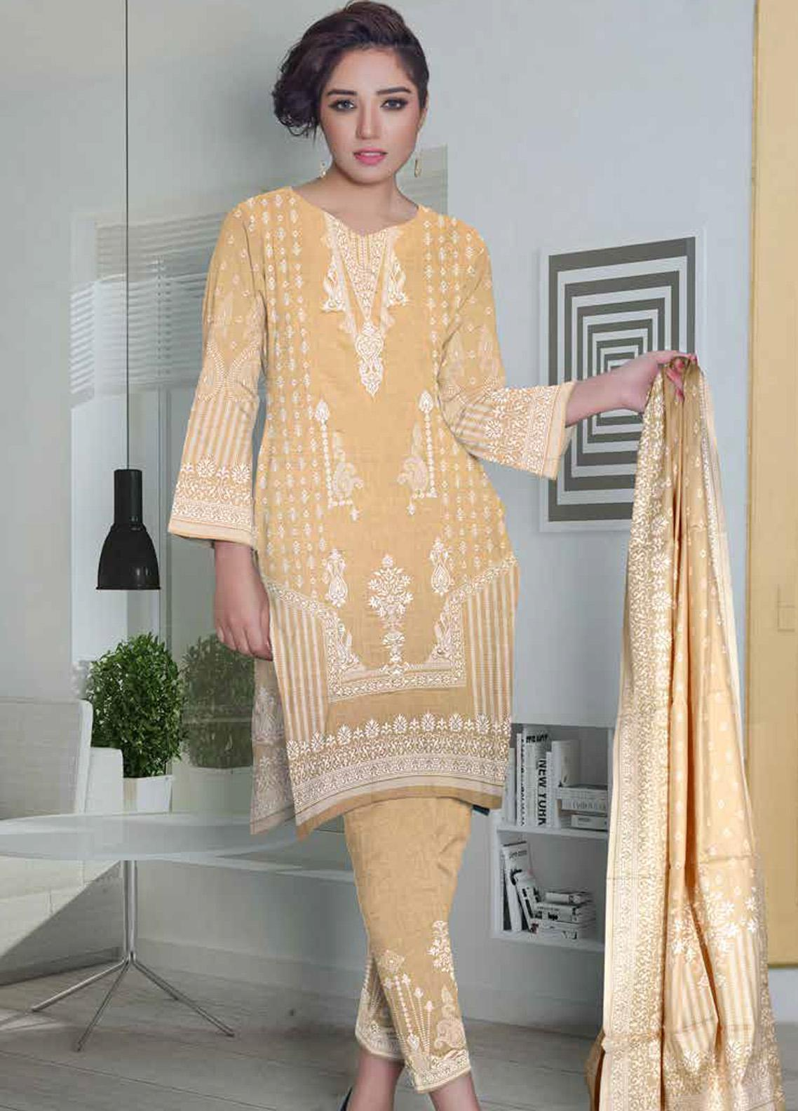Ittehad Textiles Printed Lawn Unstitched 3 Piece Suit ITD20CL 67C - Summer Collection