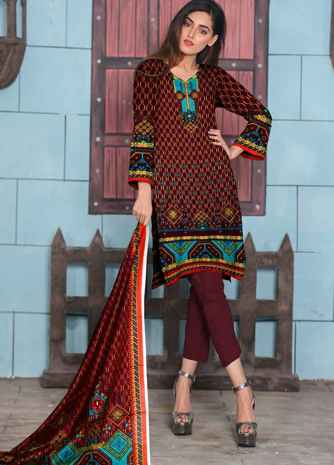Ittehad Textiles Printed Lawn Unstitched 3 Piece Suit ITD20CL 68B - Summer Collection