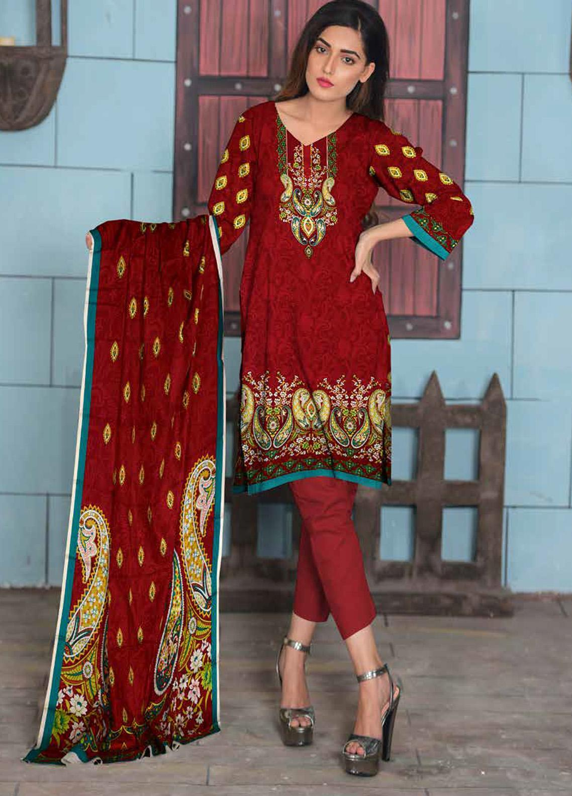 Ittehad Textiles Printed Lawn Unstitched 3 Piece Suit ITD20CL 70A - Summer Collection