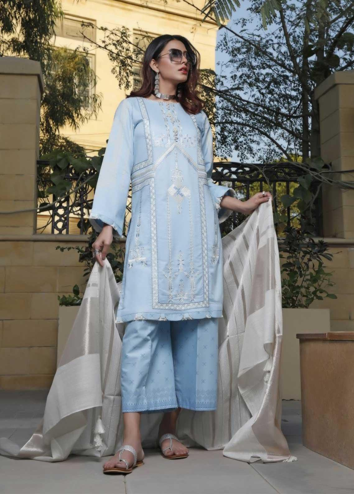 Ittehad Textiles Embroidered Lawn Suits Unstitched 3 Piece IT21EL ITE-BRILLAR - Summer Collection