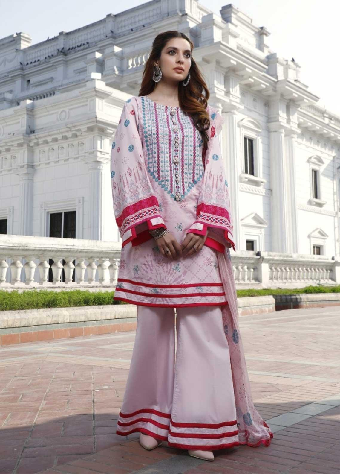 Ittehad Textiles Embroidered Lawn Suits Unstitched 3 Piece IT21EL ITE-COLORANTE - Summer Collection