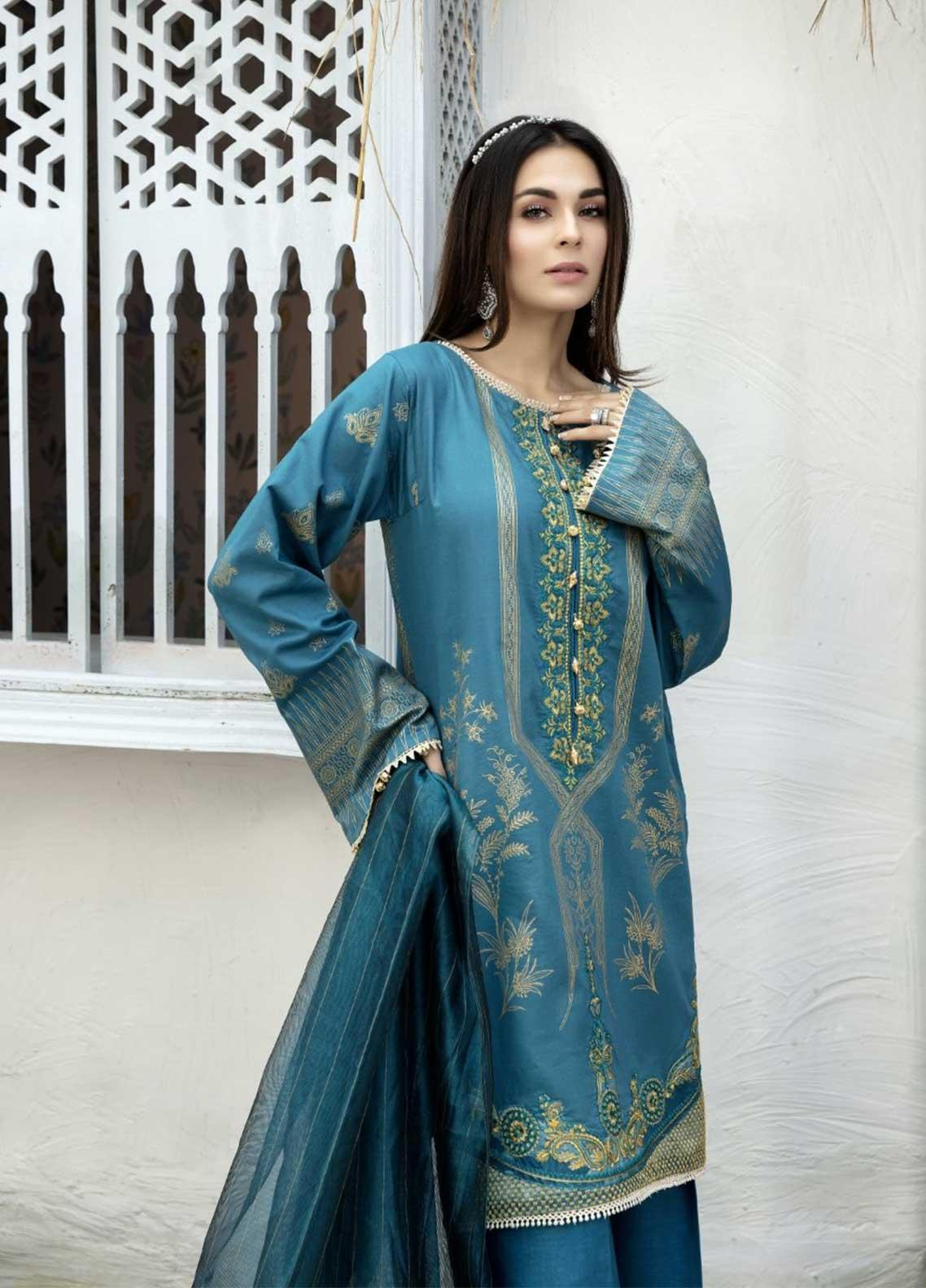 Ittehad Textiles Embroidered Lawn Suits Unstitched 3 Piece IT21EL ITE-ZALIRO - Summer Collection