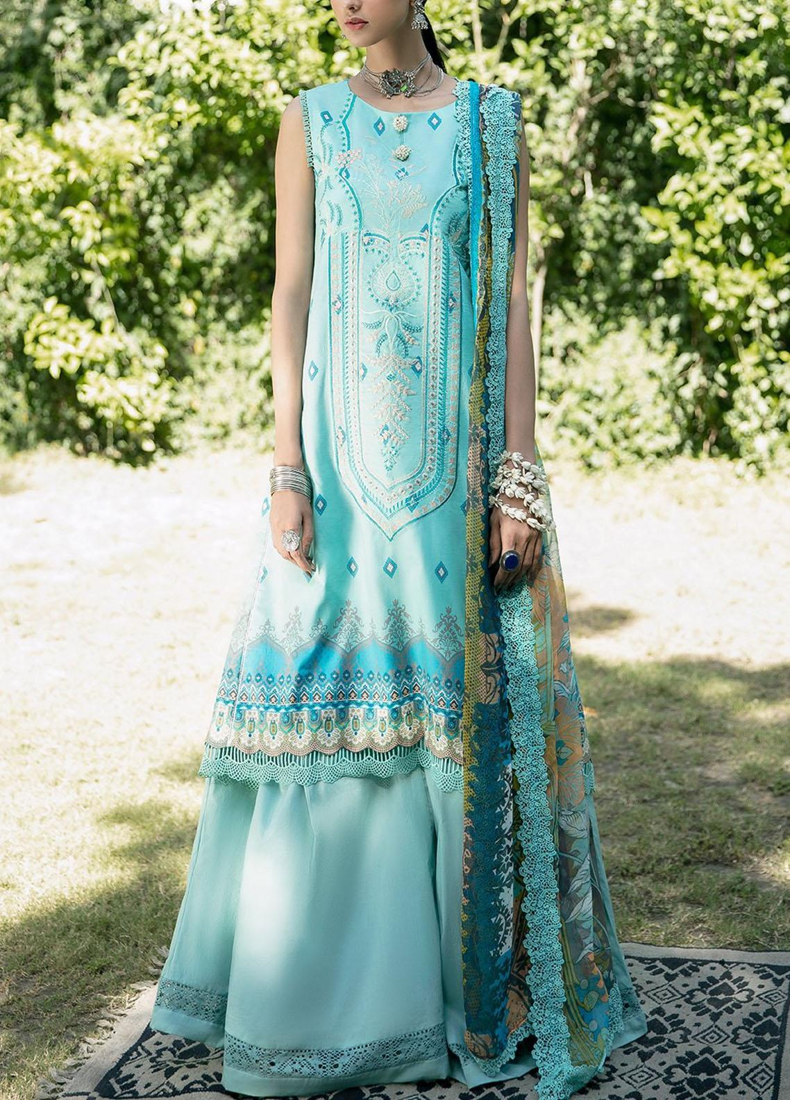 Ittehad Textiles Embroidered Lawn Suits Unstitched 3 Piece ITD21SS CIEL - Spring / Summer Collection
