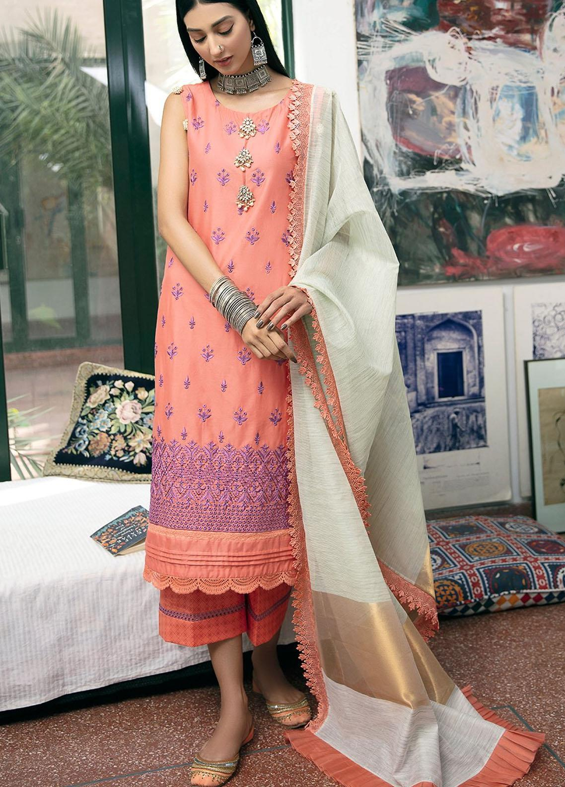 Ittehad Textiles Embroidered Lawn Suits Unstitched 3 Piece ITD21SS ETONNER - Spring / Summer Collection