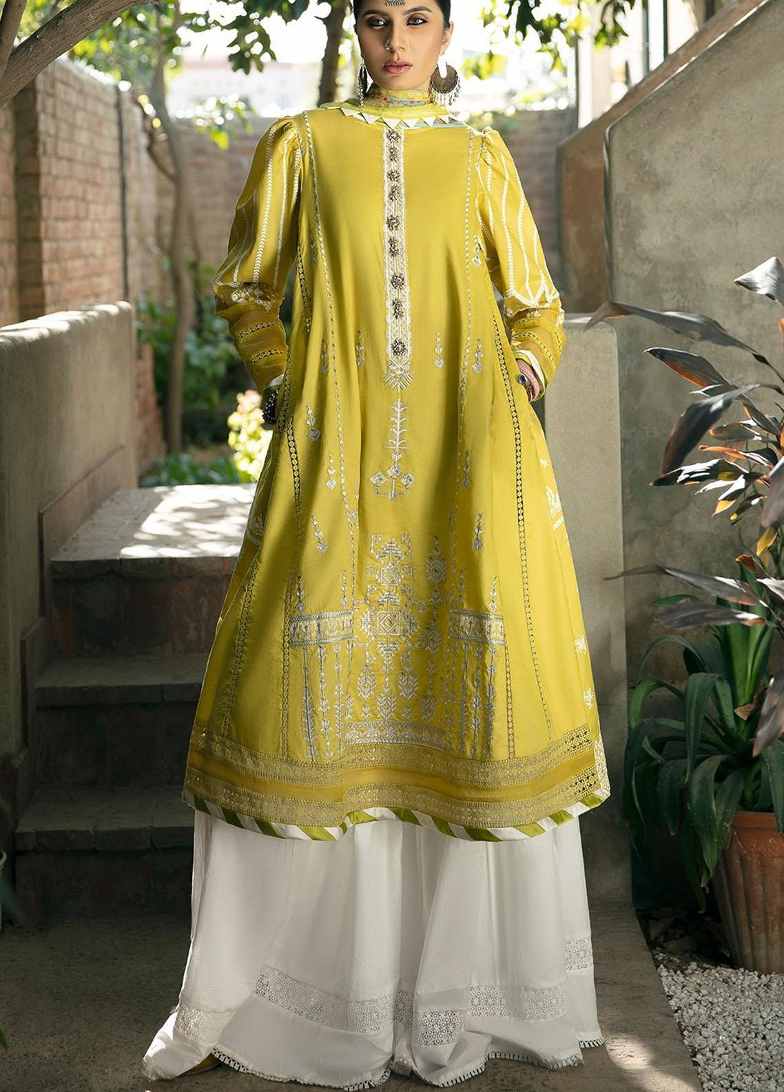 Ittehad Textiles Embroidered Lawn Suits Unstitched 3 Piece ITD21SS MOUSSELINE - Spring / Summer Collection