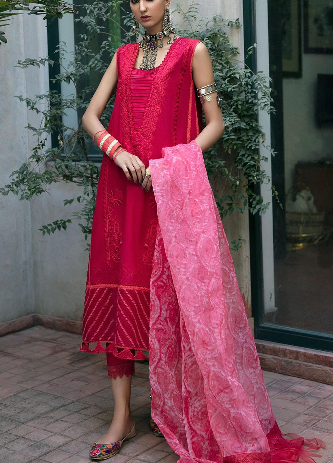 Ittehad Textiles Embroidered Lawn Suits Unstitched 3 Piece ITD21SS ROUGE - Spring / Summer Collection