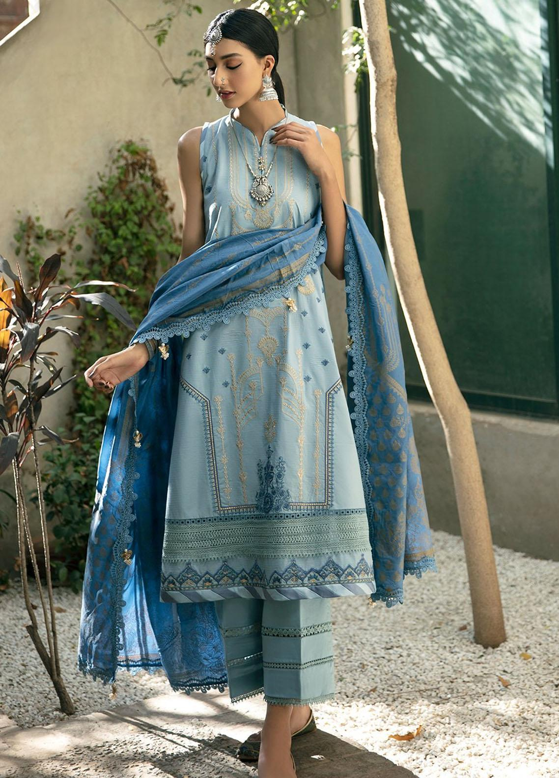 Ittehad Textiles Embroidered Lawn Suits Unstitched 3 Piece ITD21SS SOIE - Spring / Summer Collection