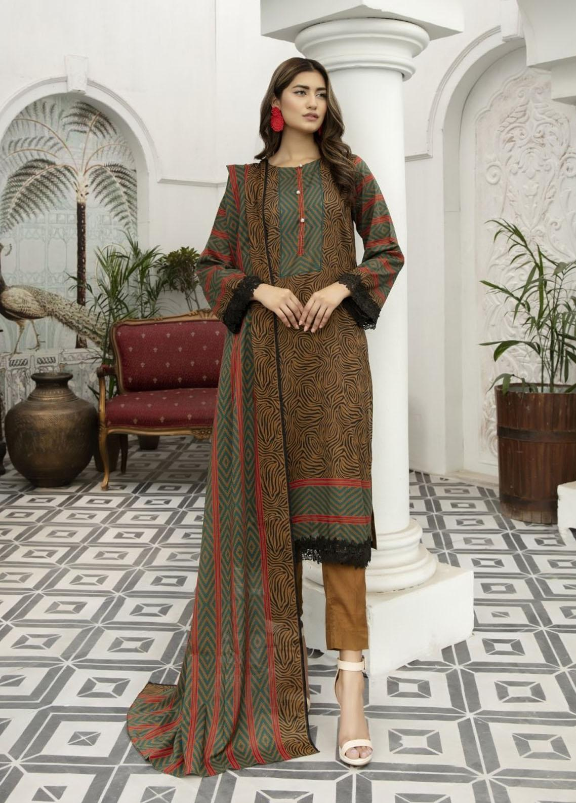 Jhalak By Ittehad Textiles Printed Lawn Suits Unstitched 3 Piece ITD21JL 21227B - Summer Collection