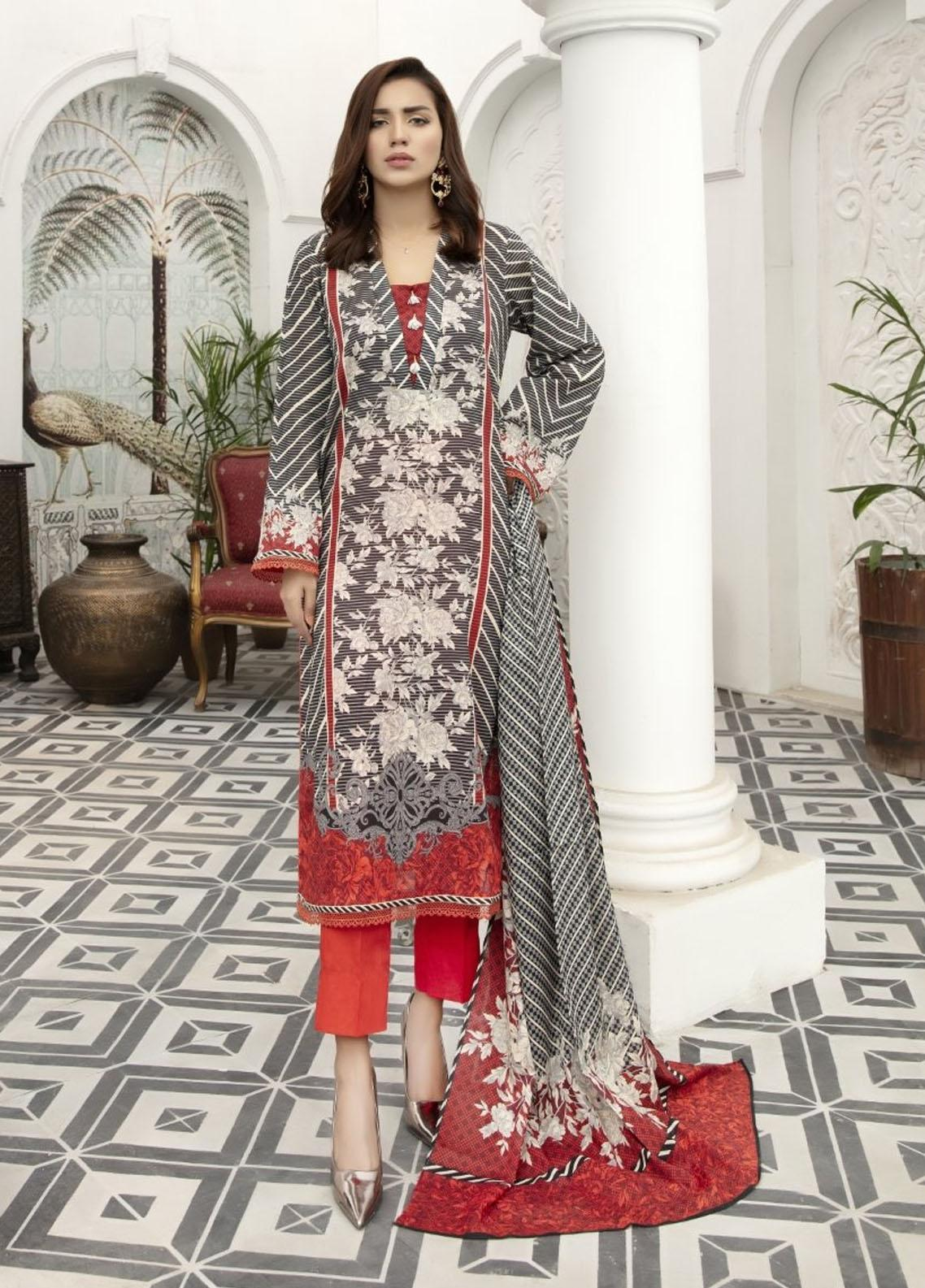 Jhalak By Ittehad Textiles Printed Lawn Suits Unstitched 3 Piece ITD21JL 21229A - Summer Collection