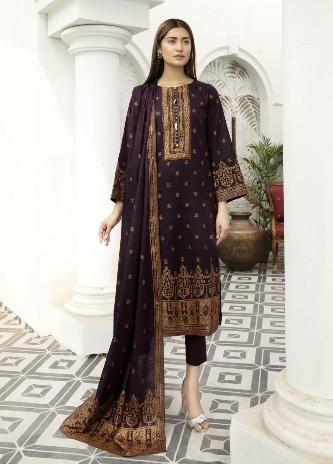 Jhalak By Ittehad Textiles Printed Lawn Suits Unstitched 3 Piece ITD21JL 21230B - Summer Collection