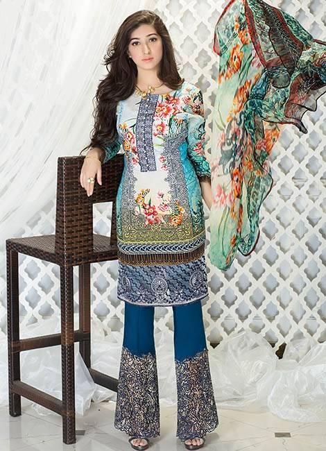Iznik Embroidered Lawn Unstitched 3 Piece Suit IZ17E2 05