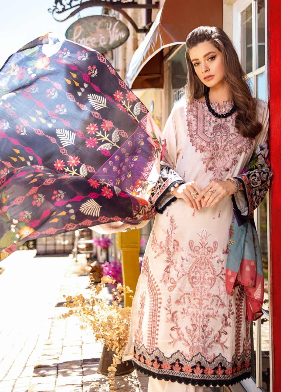 Pakistani Designer iznik inspired Lawn Shalwar Kameez Fully Stitched 3PC Suit
