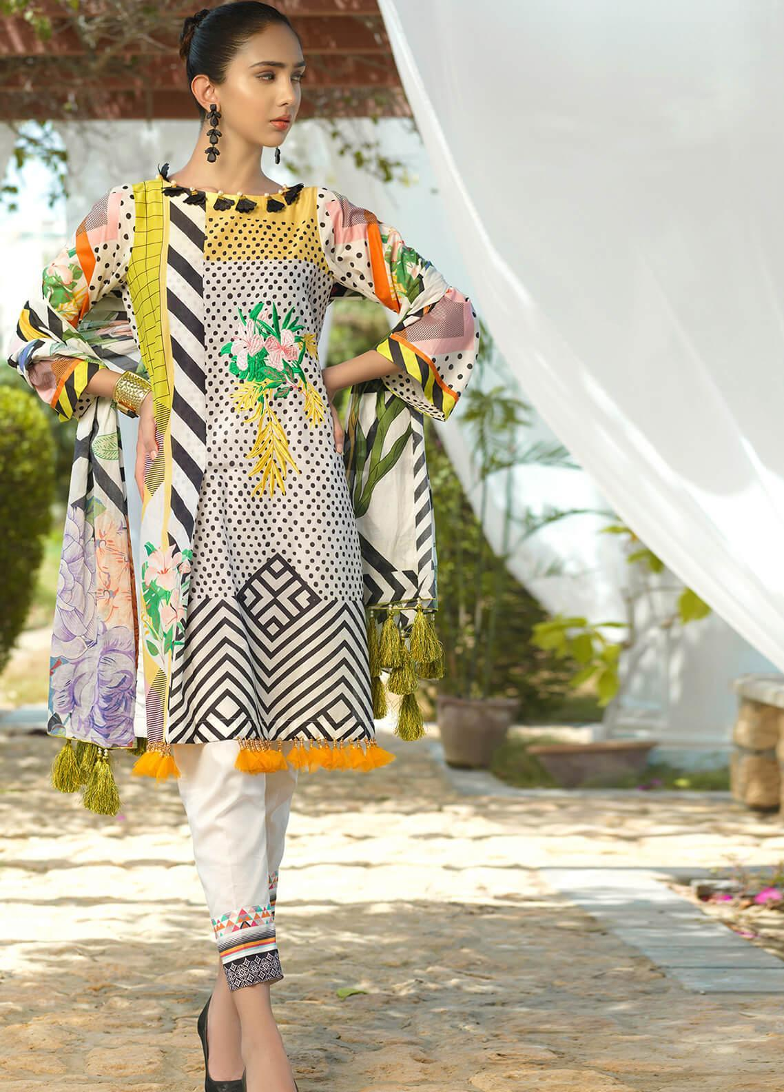 Jan-e-Adaa by Keshia Embroidered Lawn Unstitched 3 Piece Suit K20JA 14 KE-CS-0720 Milovat - Luxury Collection