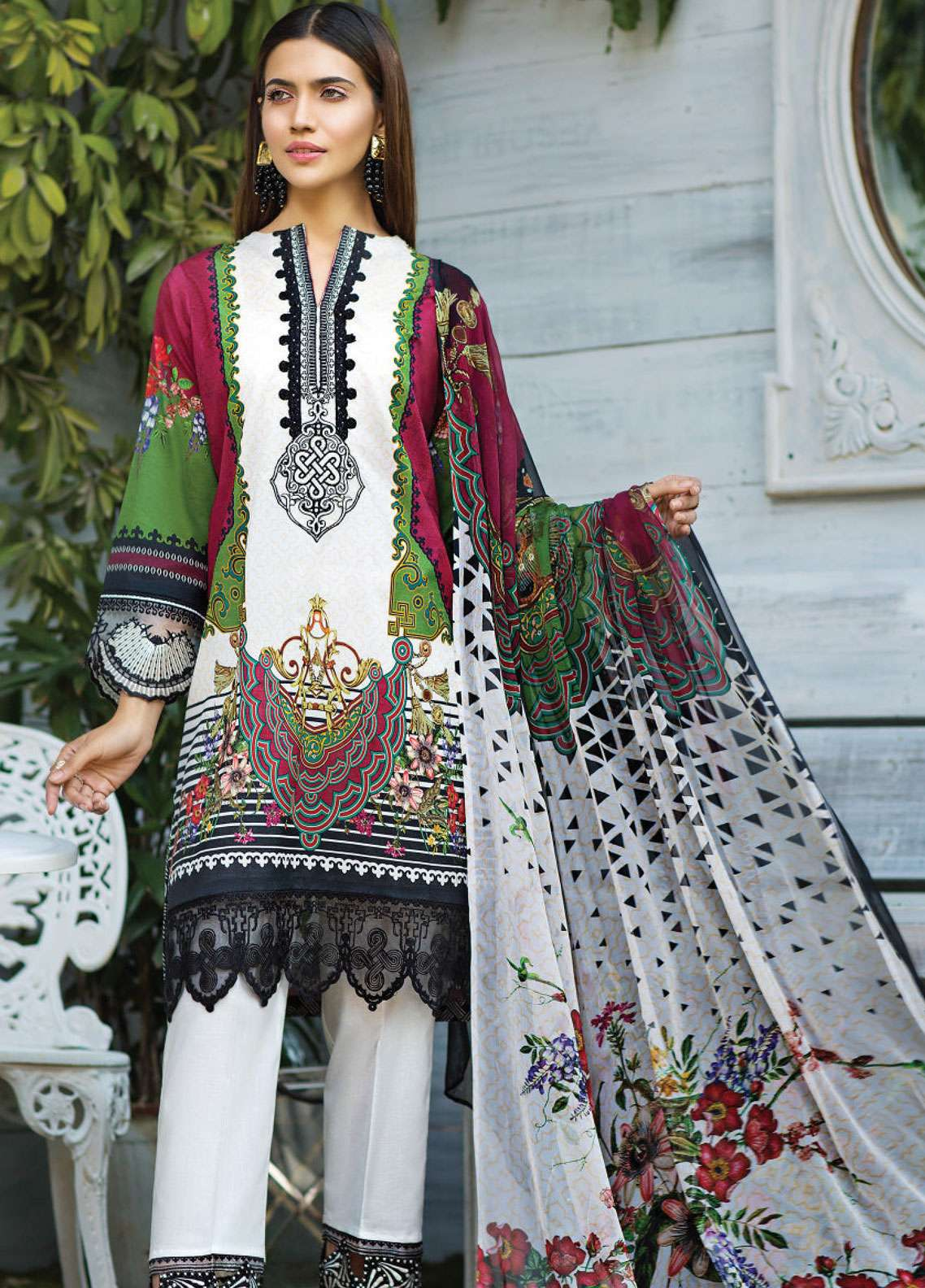 Janiya by Resham Ghar Embroidered Lawn Unstitched 3 Piece Suit JRG19L 06 - Spring / Summer Collection