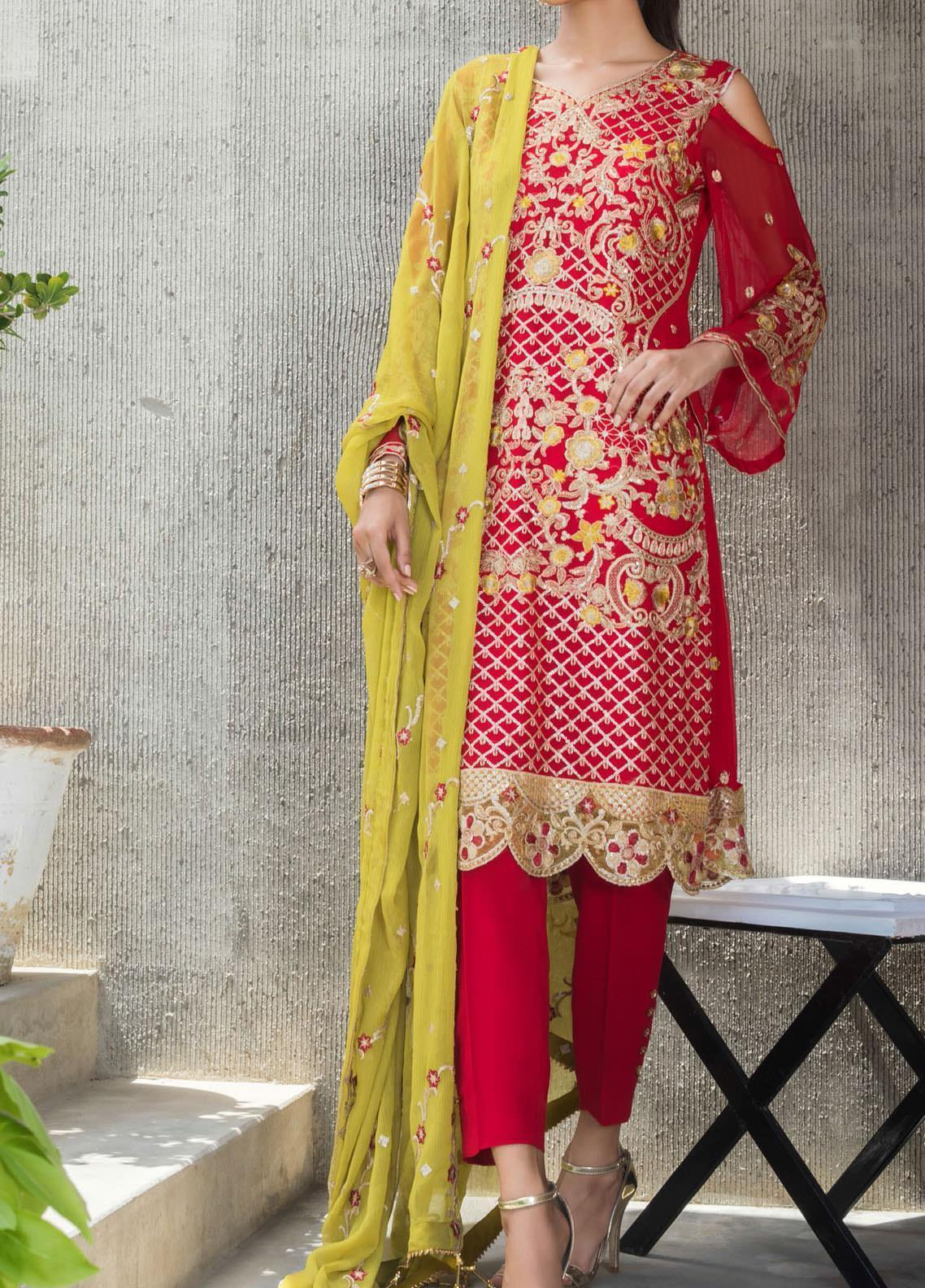 Jazmin by Zohan Textiles Embroidered Chiffon Unstitched 3 Piece Suit ZT20PC 03A - Luxury Collection