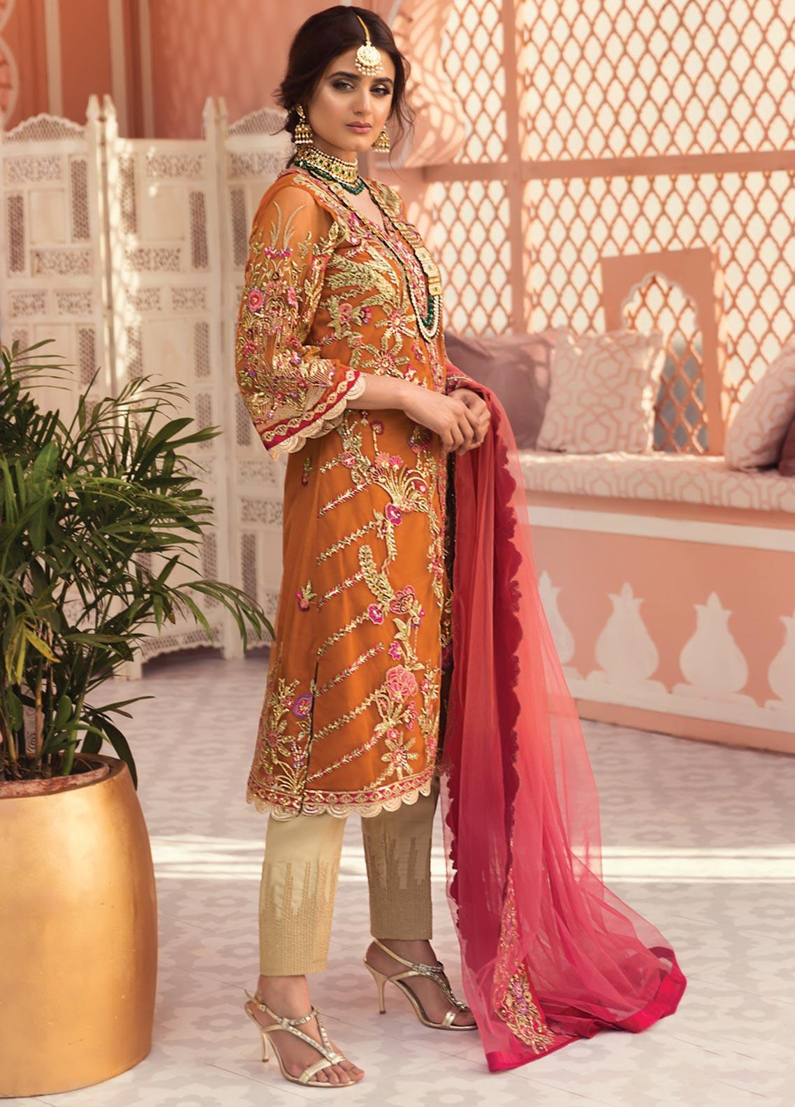 Jeem Embroidered Net Unstitched 3 Piece Suit JM19W MANNAT 5 - Wedding Collection