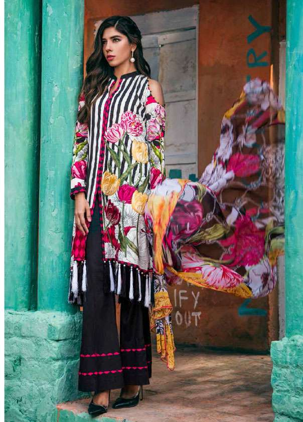 Jahanara Embroidered Cotton Unstitched 3 Piece Suit JN17C 03