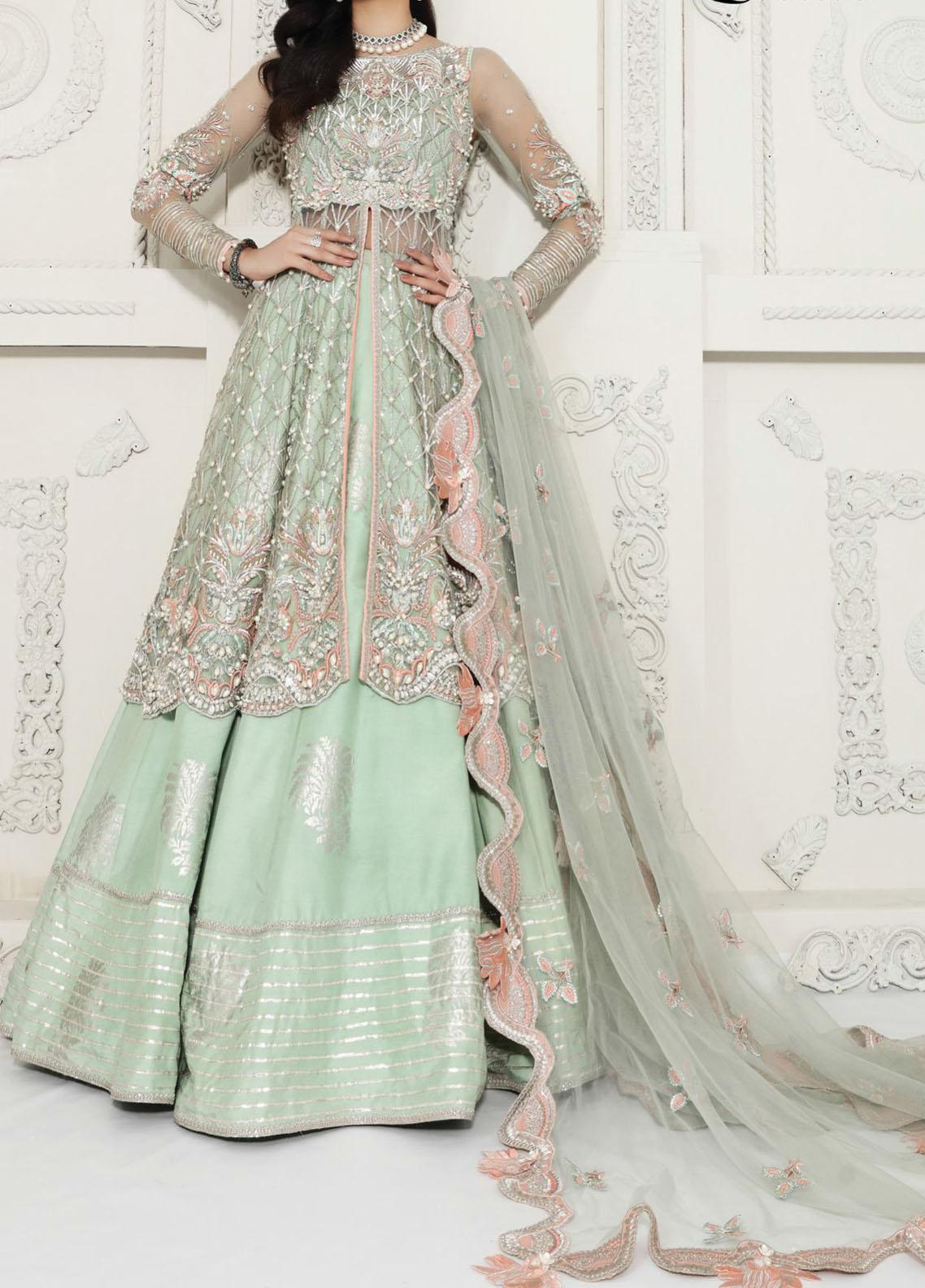 Anaya By Kiran Chaudhry Embroidered Tulle Stitched 3 Piece Suit AKC20B 13 Lucille - Bridal Wear Collection
