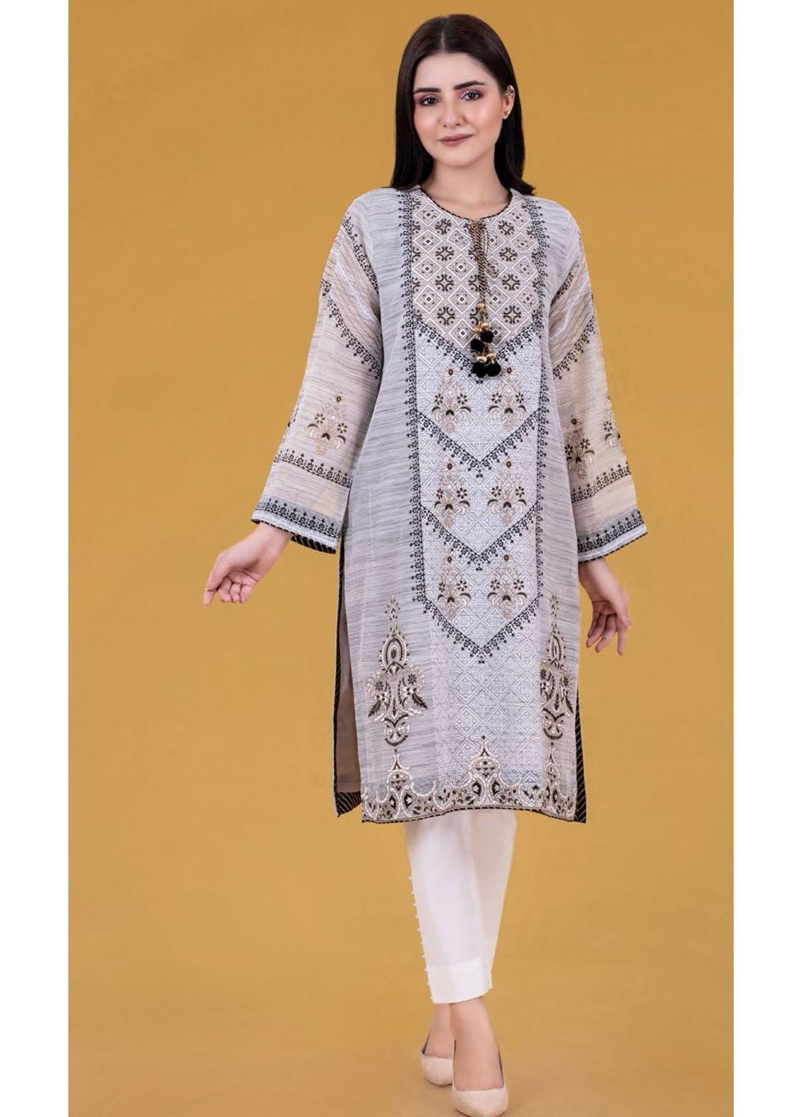 Gul Ahmed Luxury Pret Printed Khaadi Net Kurties GA21K WGK-FFS-SP-269