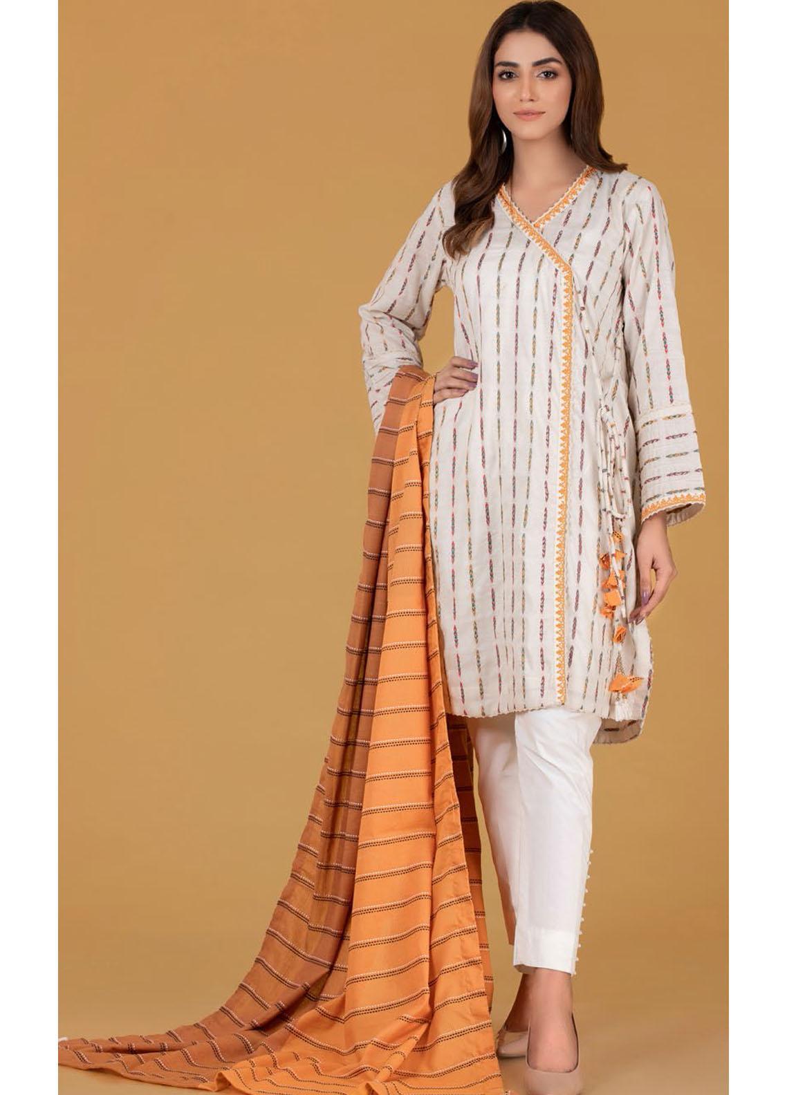 Gul Ahmed Luxury Pret Embroidered Cotton 2 Piece Suit GA21K WGK-JQS-DE-193