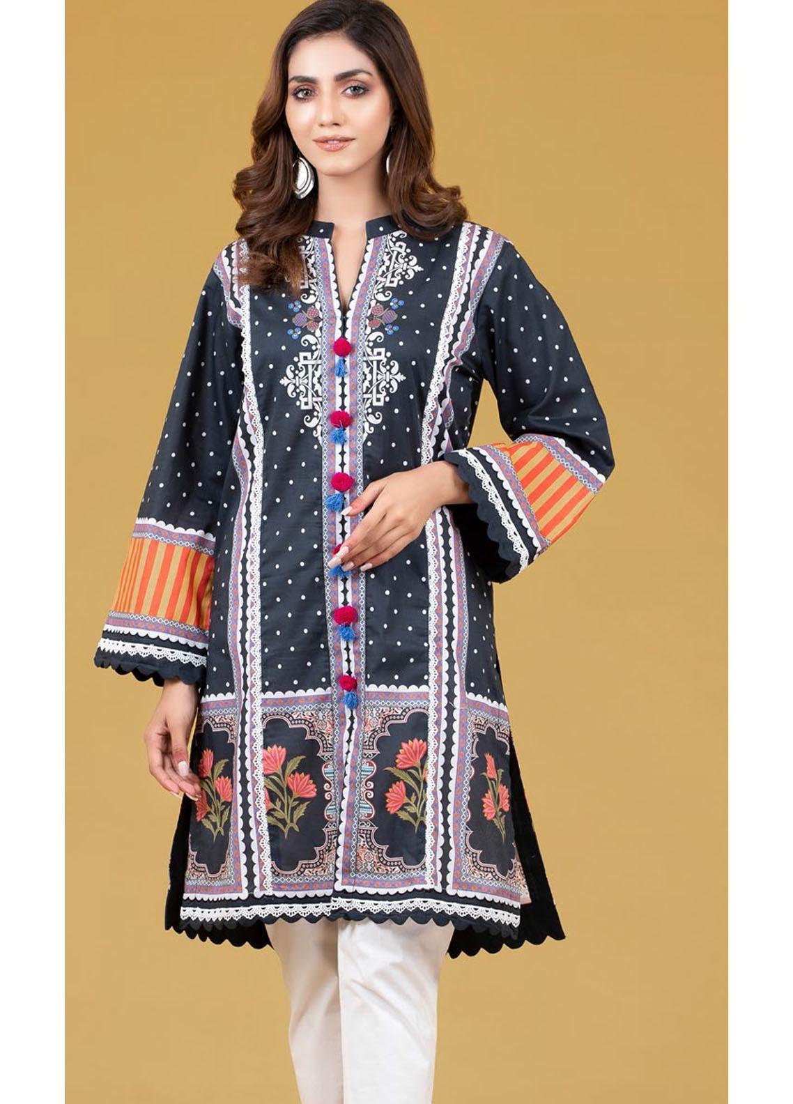 Gul Ahmed Luxury Pret Printed Cambric Kurties GA21K WGK-LWS-DP-253