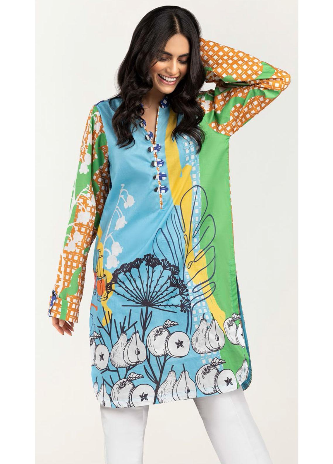 Gul Ahmed Luxury Pret Printed Cambric Kurties GA21K WGK-LWS-DP-471