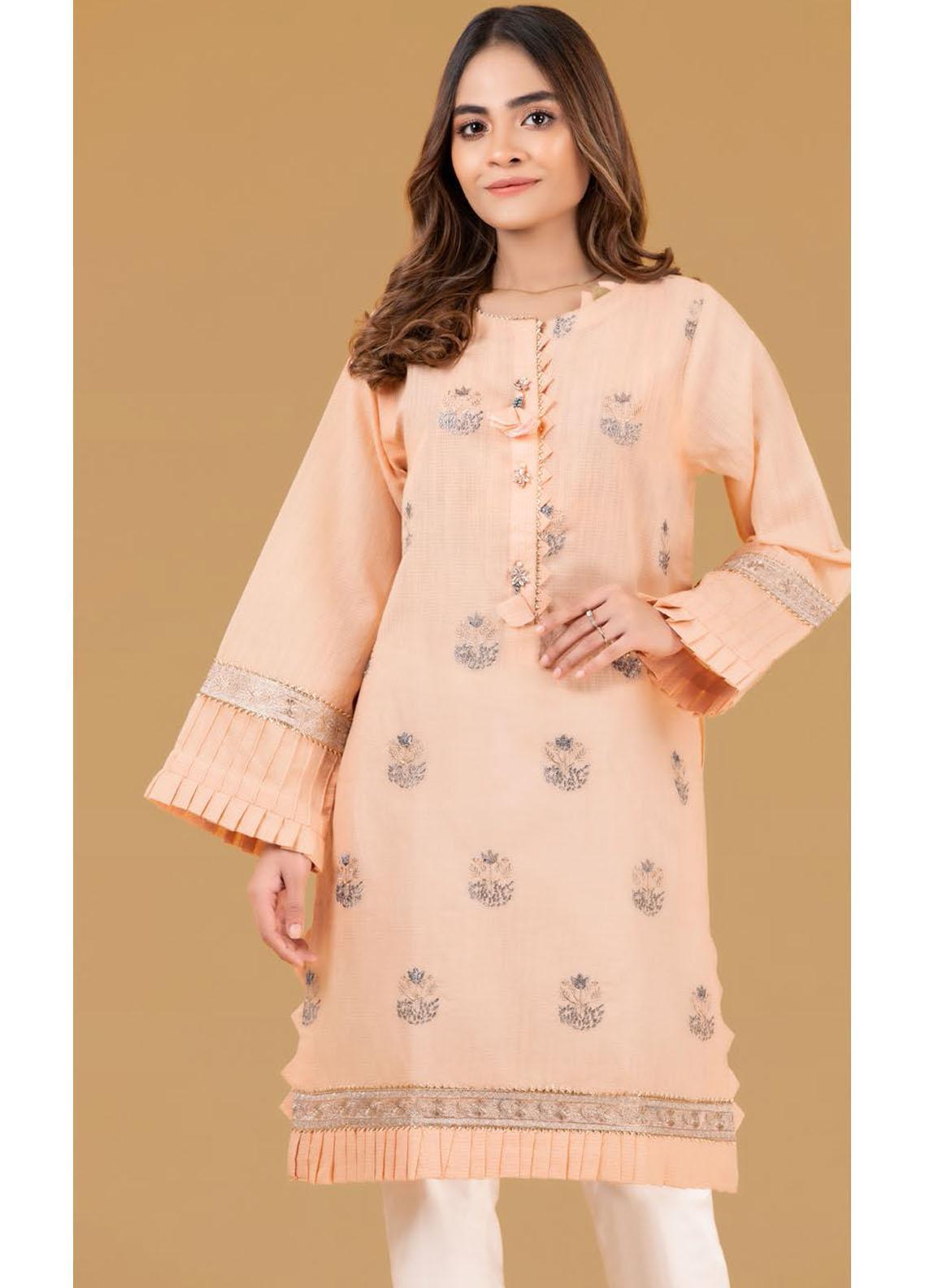 Gul Ahmed Luxury Pret Embroidered Cotton Kurties GA21K WGK-YDS-DE-409
