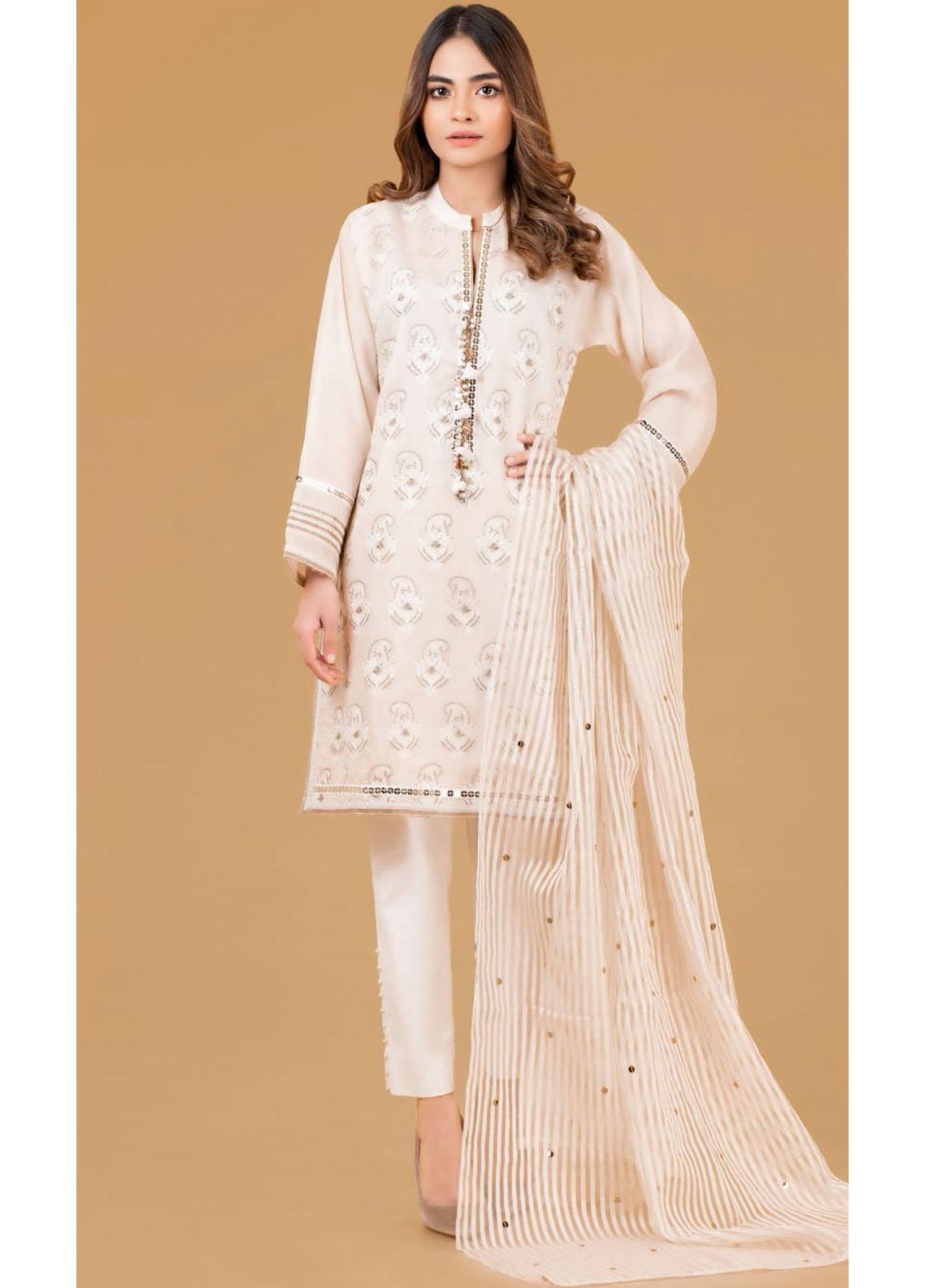 Gul Ahmed Luxury Pret Embroidered Cotton 2 Piece Suit GA21K WGK-YDS-DE-414