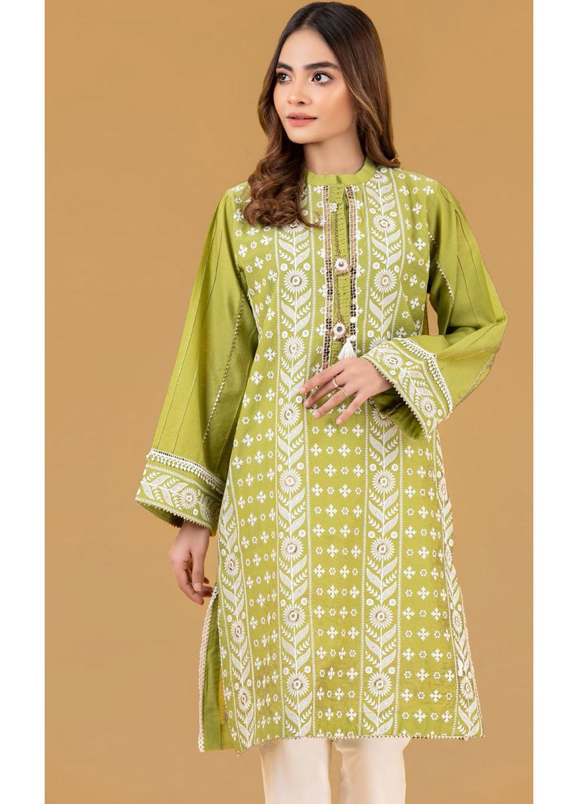 Gul Ahmed Luxury Pret Embroidered Cotton Kurties GA21K WGK-YDS-DE-420