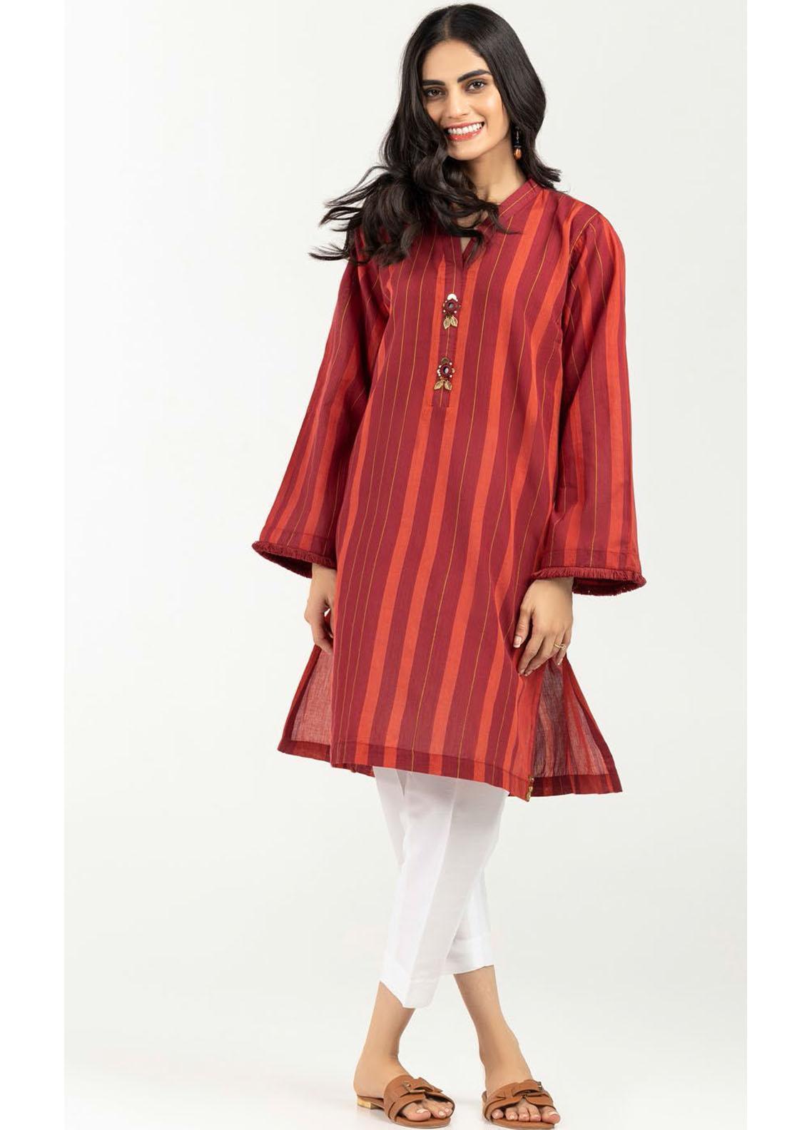 Gul Ahmed Luxury Pret Printed Cotton Kurties GA21K WGK-YDS-HW-541