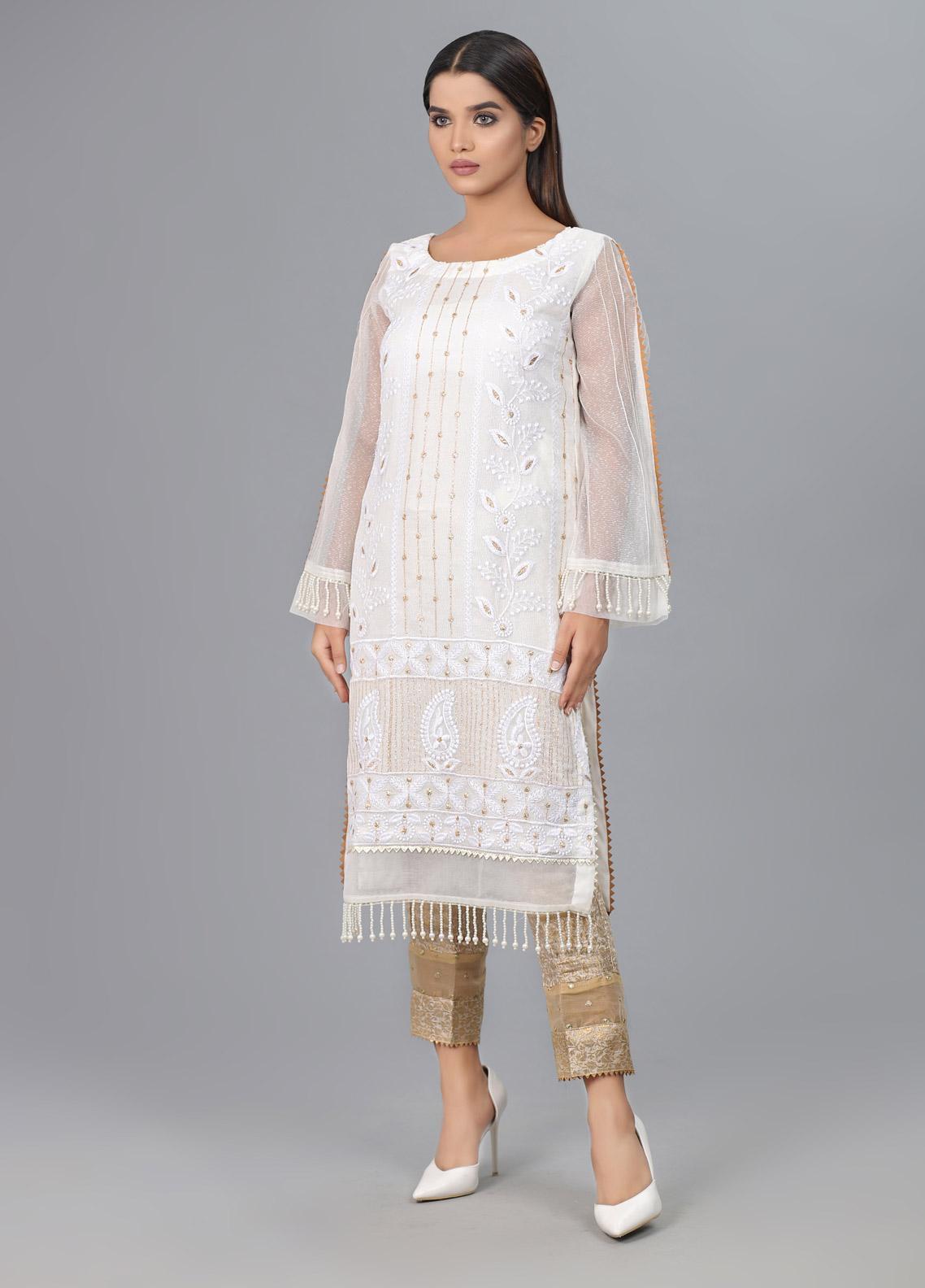 Kaara Formal Khaadi Net Stitched Kurtis KR594
