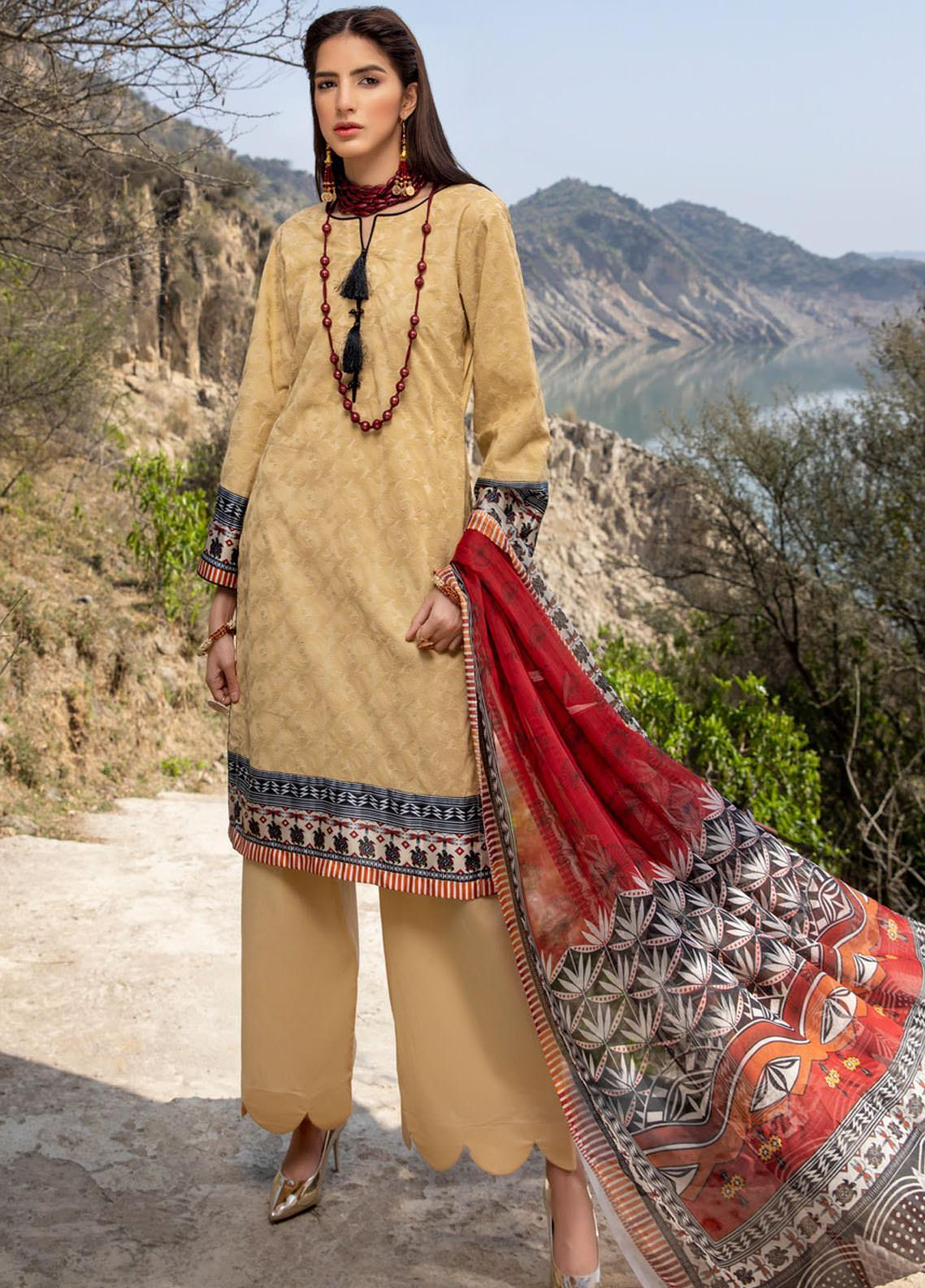 Kalyan by ZS Textiles Embroidered Chikankari Suits Unstitched 3 Piece ZS21KC-3 ZS-01 - Summer Collection