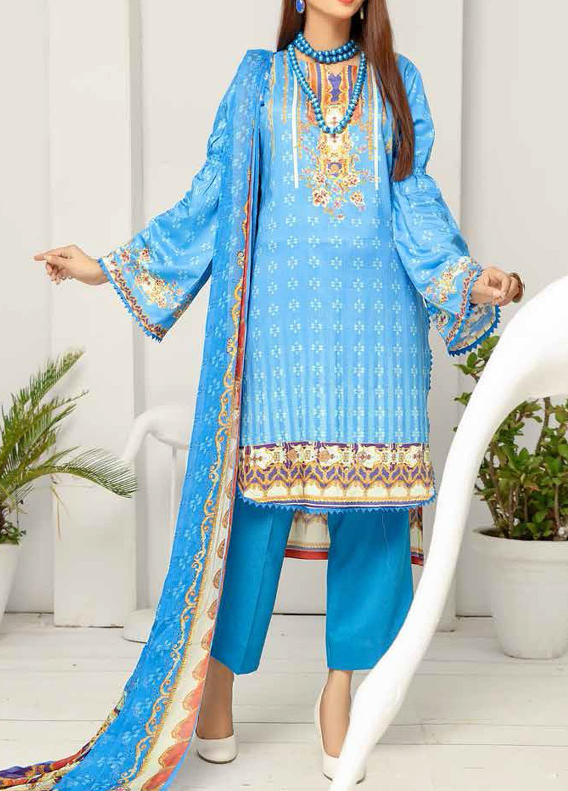 Khaka by Puri Fabrics Embroidered Viscose Unstitched 3 Piece Suit PF20KV-2 D-04 - Festive Collection