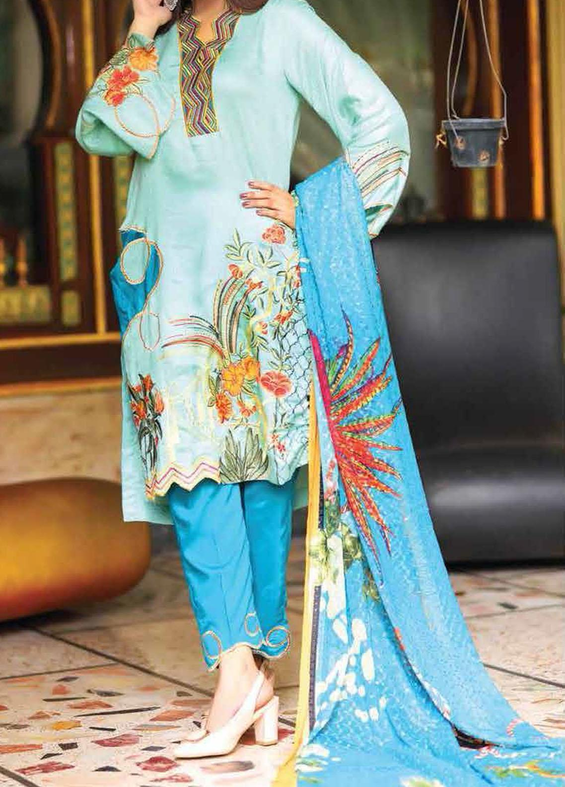 Khaka by Puri Fabrics Embroidered Viscose Unstitched 3 Piece Suit KH20C 03 - Winter Collection