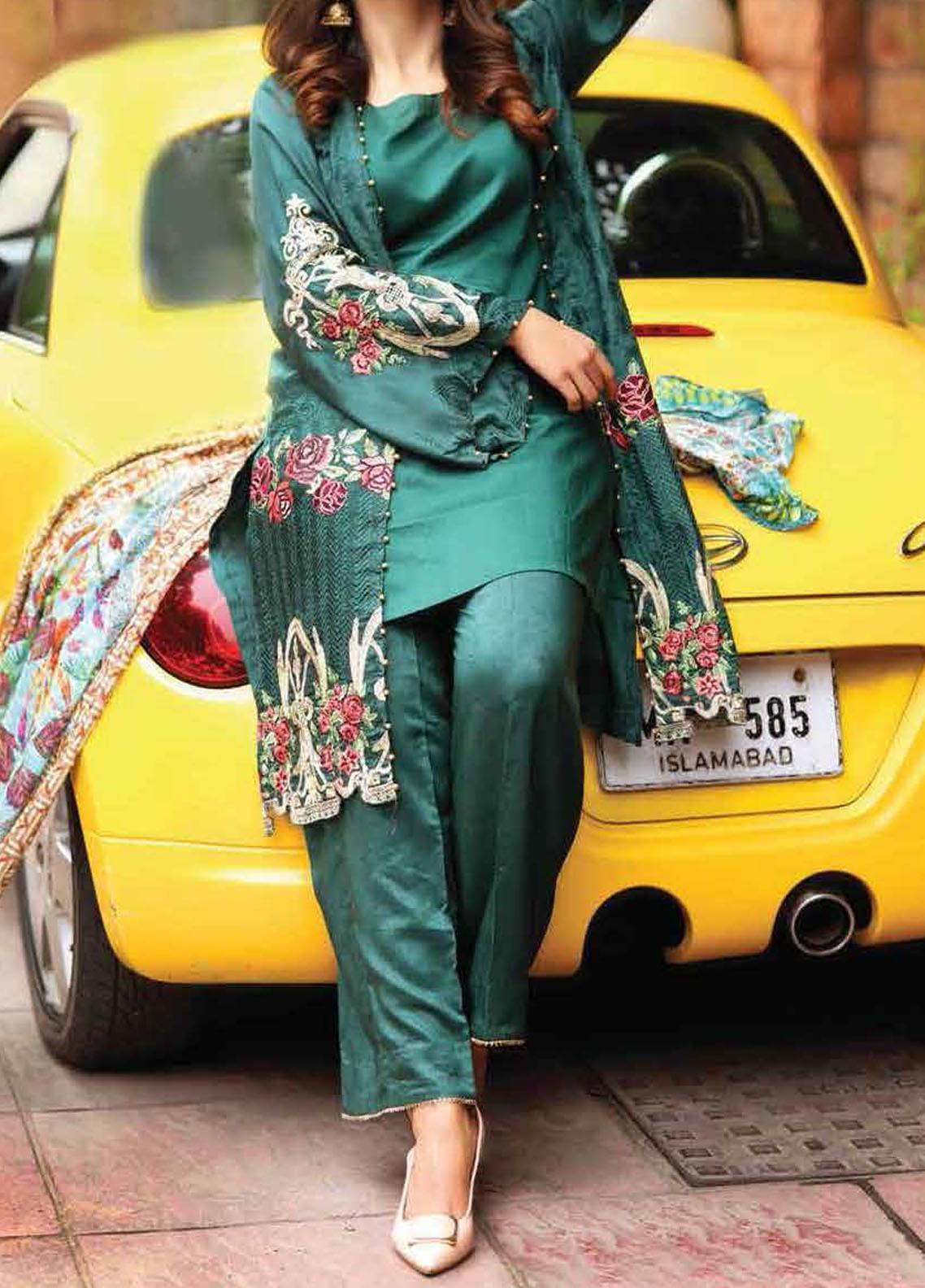 Khaka by Puri Fabrics Embroidered Viscose Unstitched 3 Piece Suit KH20C 06 - Winter Collection