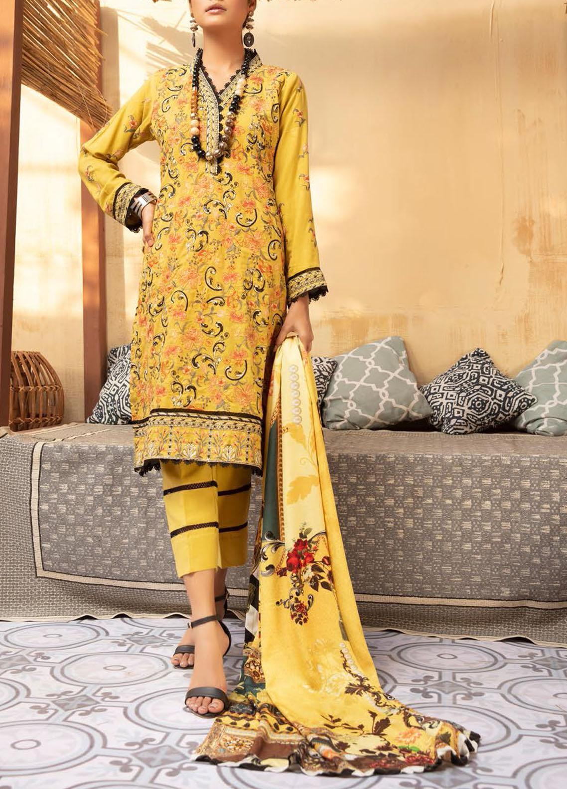 Khoobseerat by Shaista Embroidered Peach Unstitched 3 Piece Suit SHT20KB 412 - Winter Collection