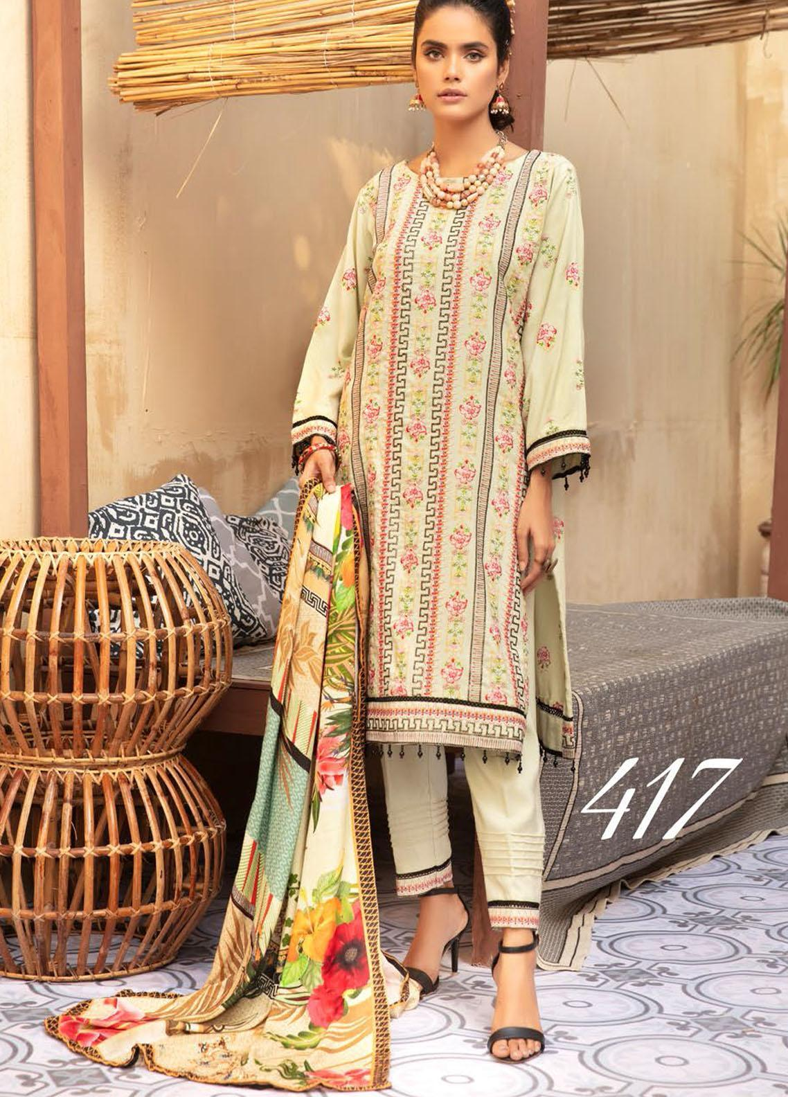 Khoobseerat by Shaista Embroidered Peach Unstitched 3 Piece Suit SHT20KB 417 - Winter Collection