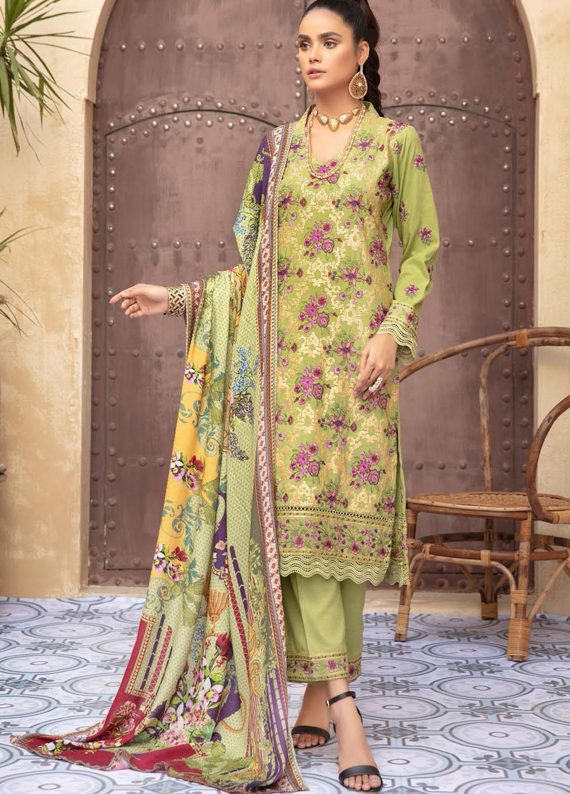 Khoobseerat by Shaista Embroidered Peach Unstitched 3 Piece Suit SHT20KB 418 - Winter Collection