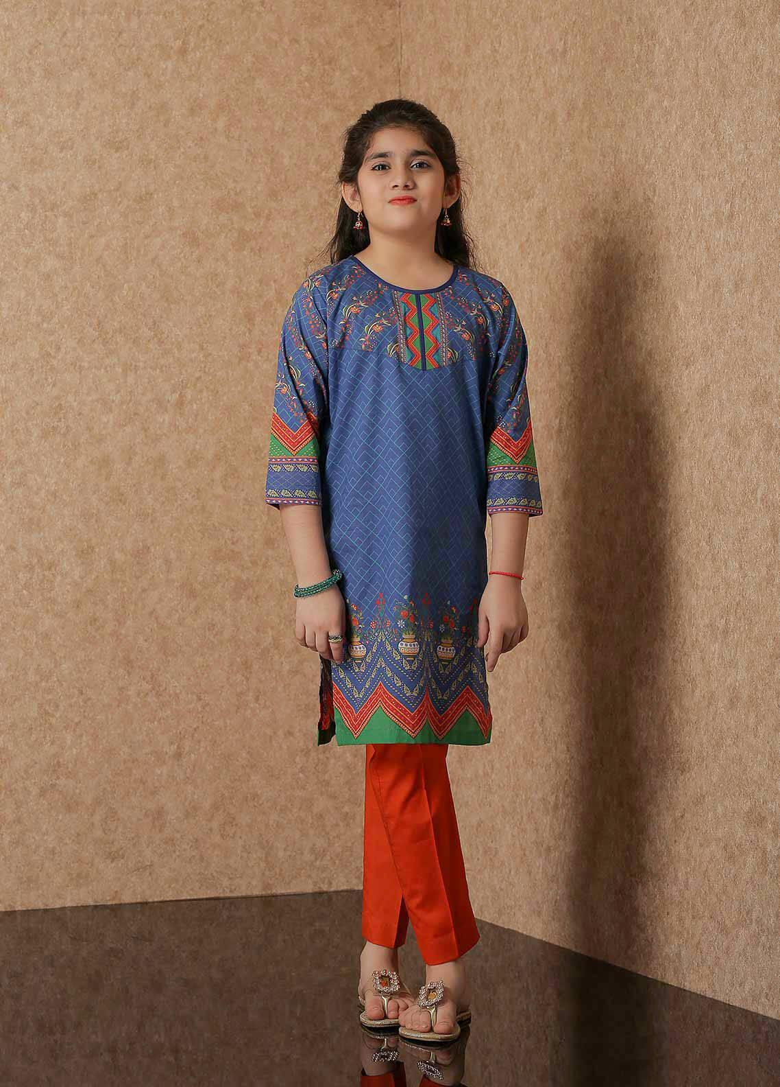 Waniya Lawn Printed 2 Piece Suit for Girls -  WKA20-03