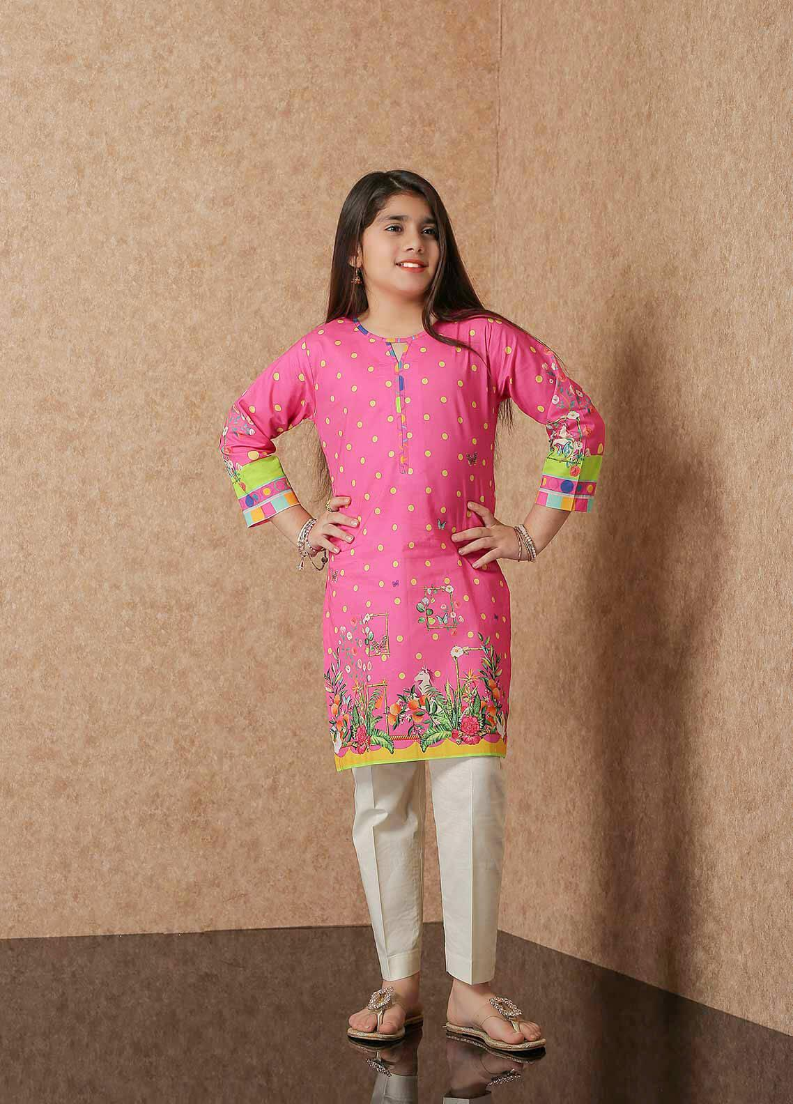 Waniya Lawn Printed Girls 2 Piece Suit -  WKA20-04