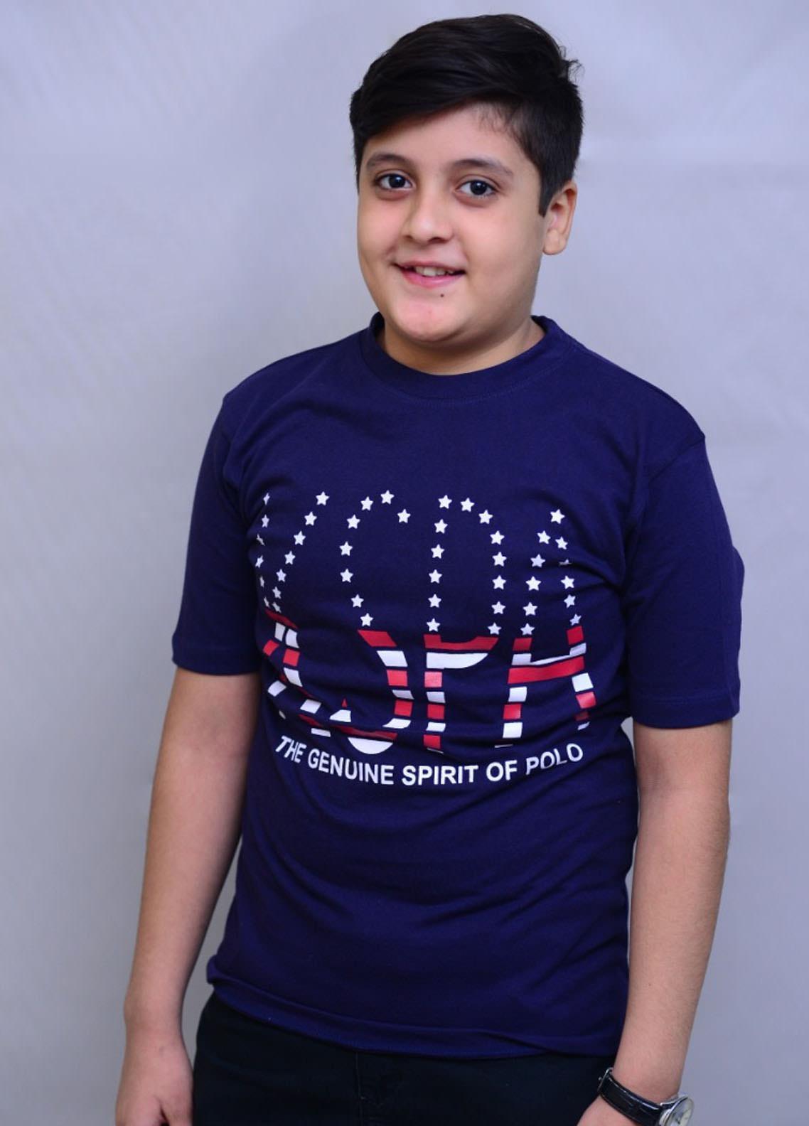 Kids Polo Jersey Casual Boys T-Shirts -  KP20BW BTHS 1909 NAVY Navy KSPA T-shirt