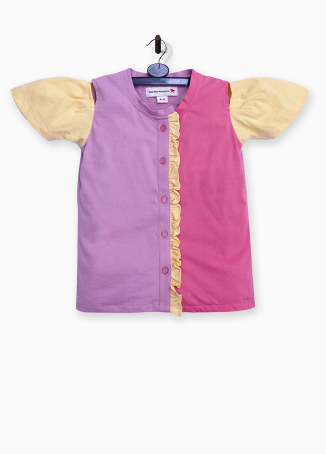 Kids Polo Cotton Jersey Fancy Girls Shirts -  GJSK20205